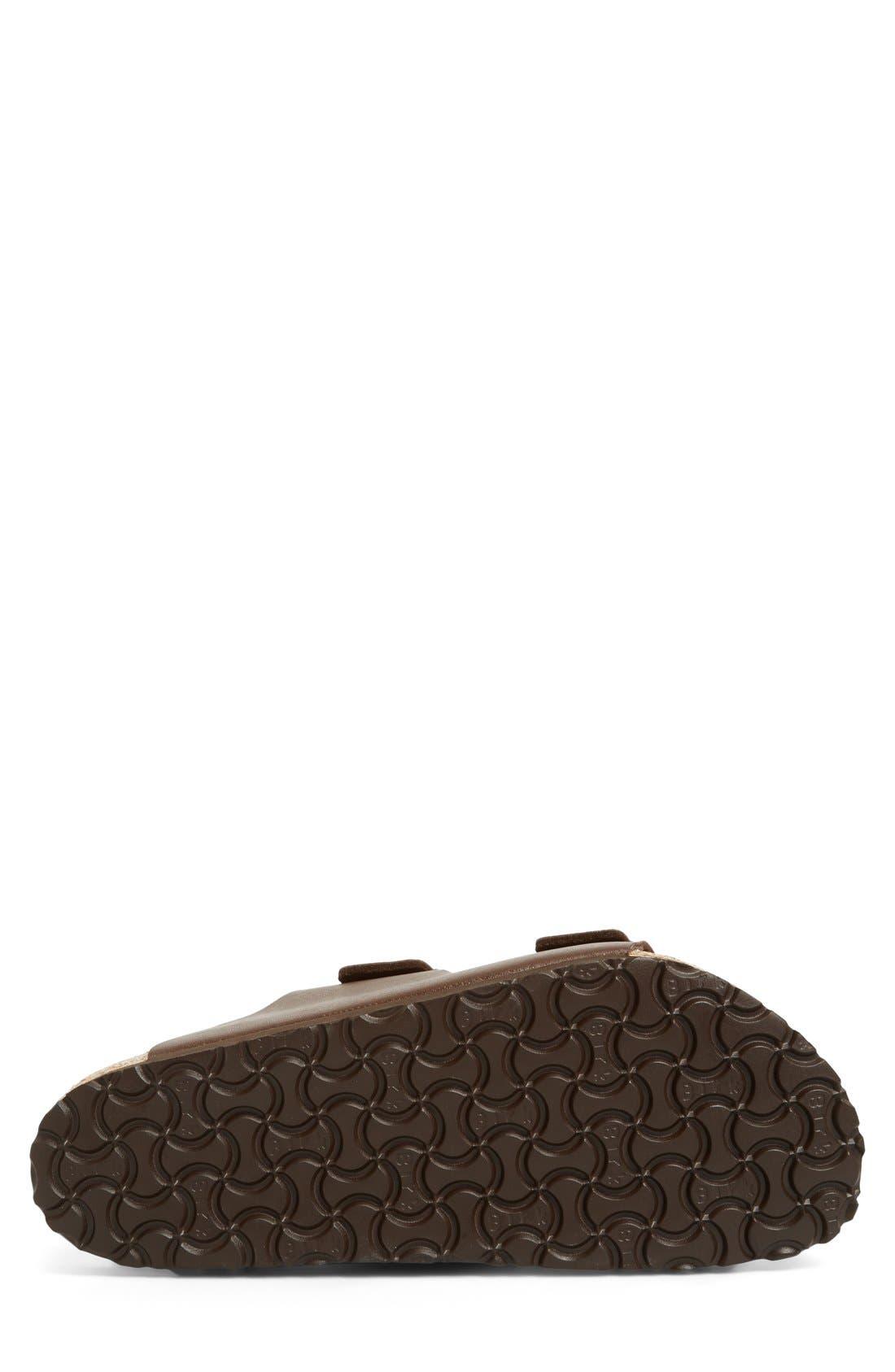 'Arizona' Slide Sandal,                             Alternate thumbnail 4, color,                             Dark Brown