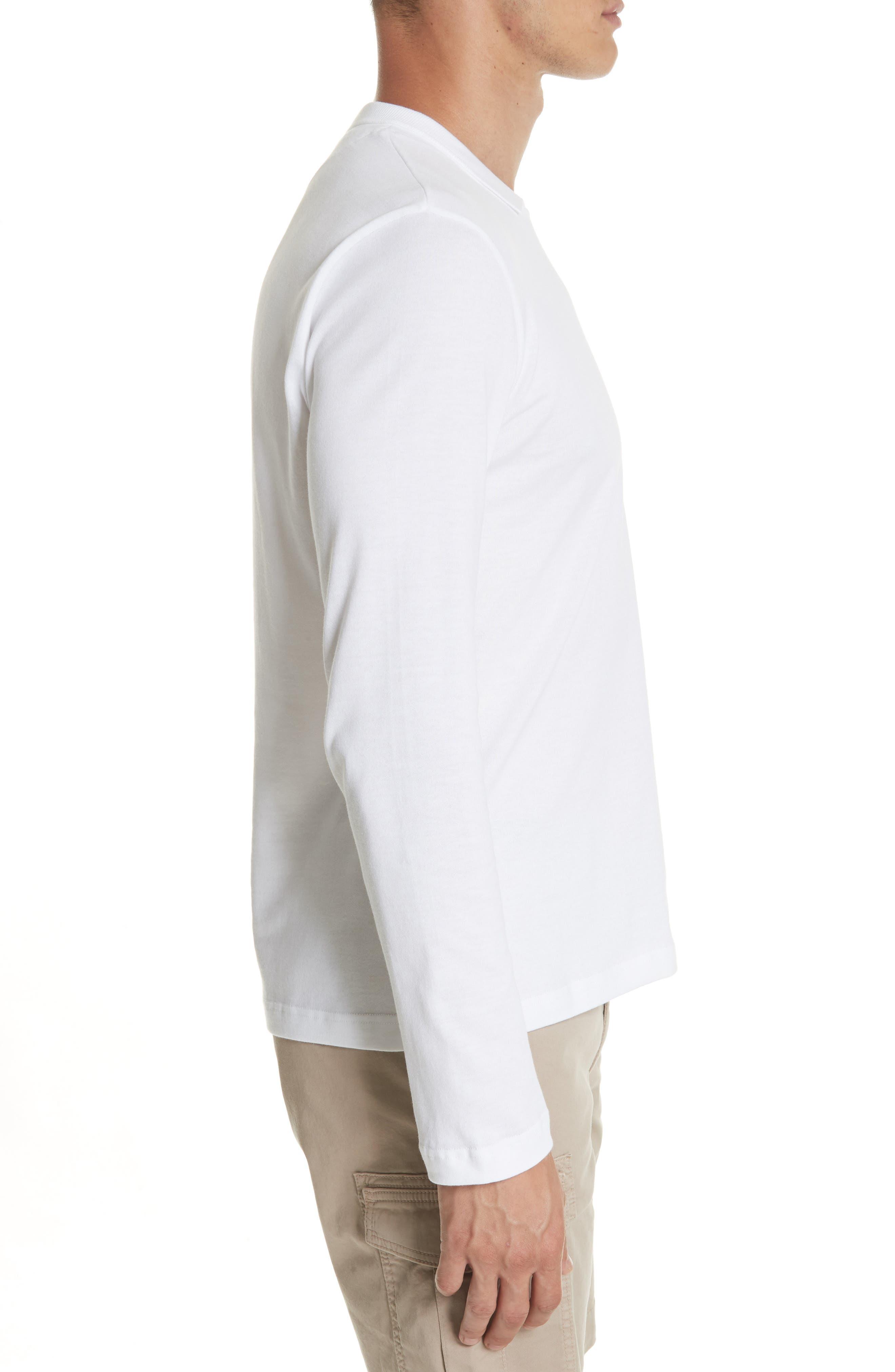 Long Sleeve Polo Shirt,                             Alternate thumbnail 3, color,                             Ivory
