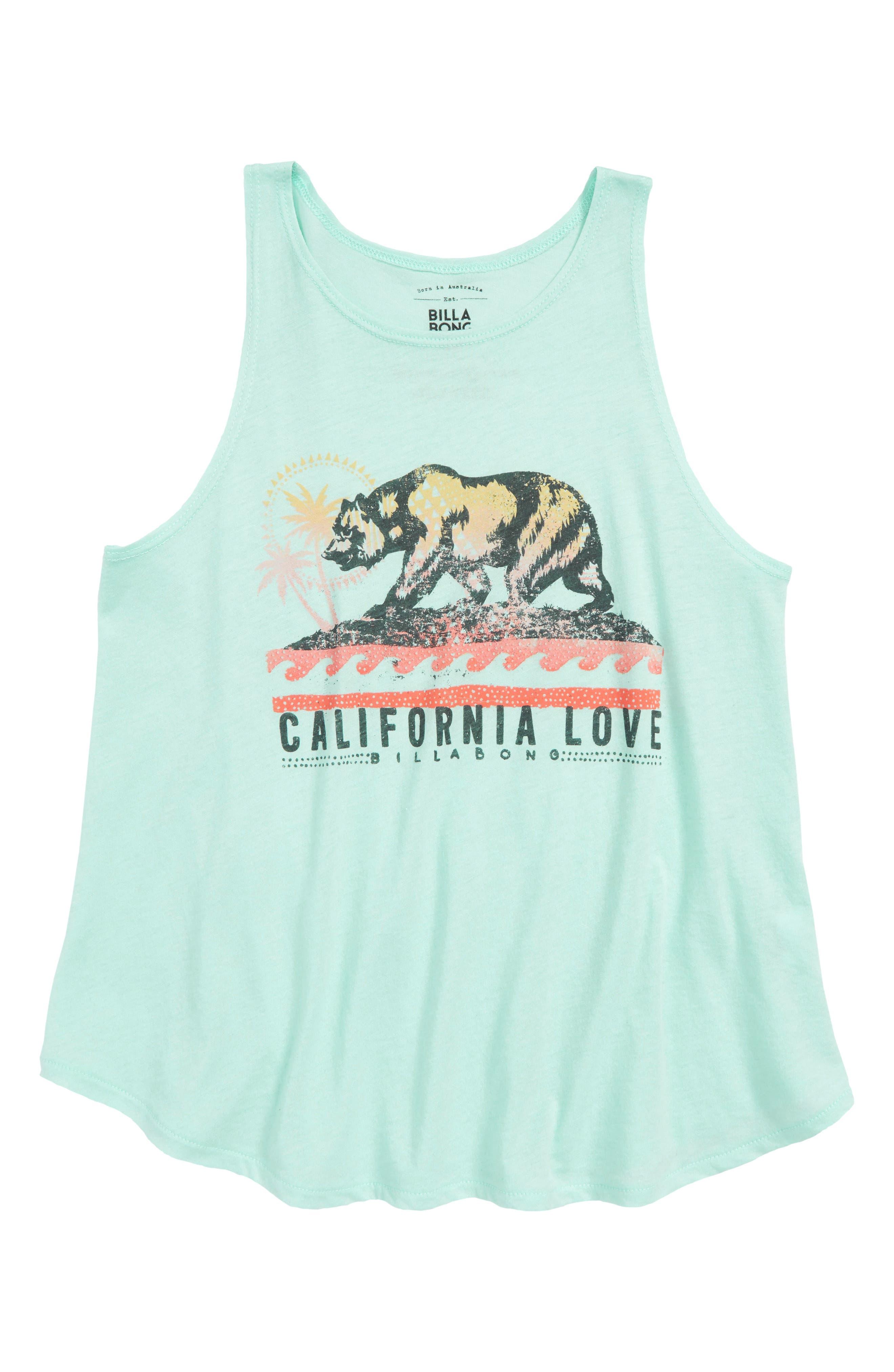 Billabong Love Cali Bear Graphic Tank (Little Girls & Big Girls)
