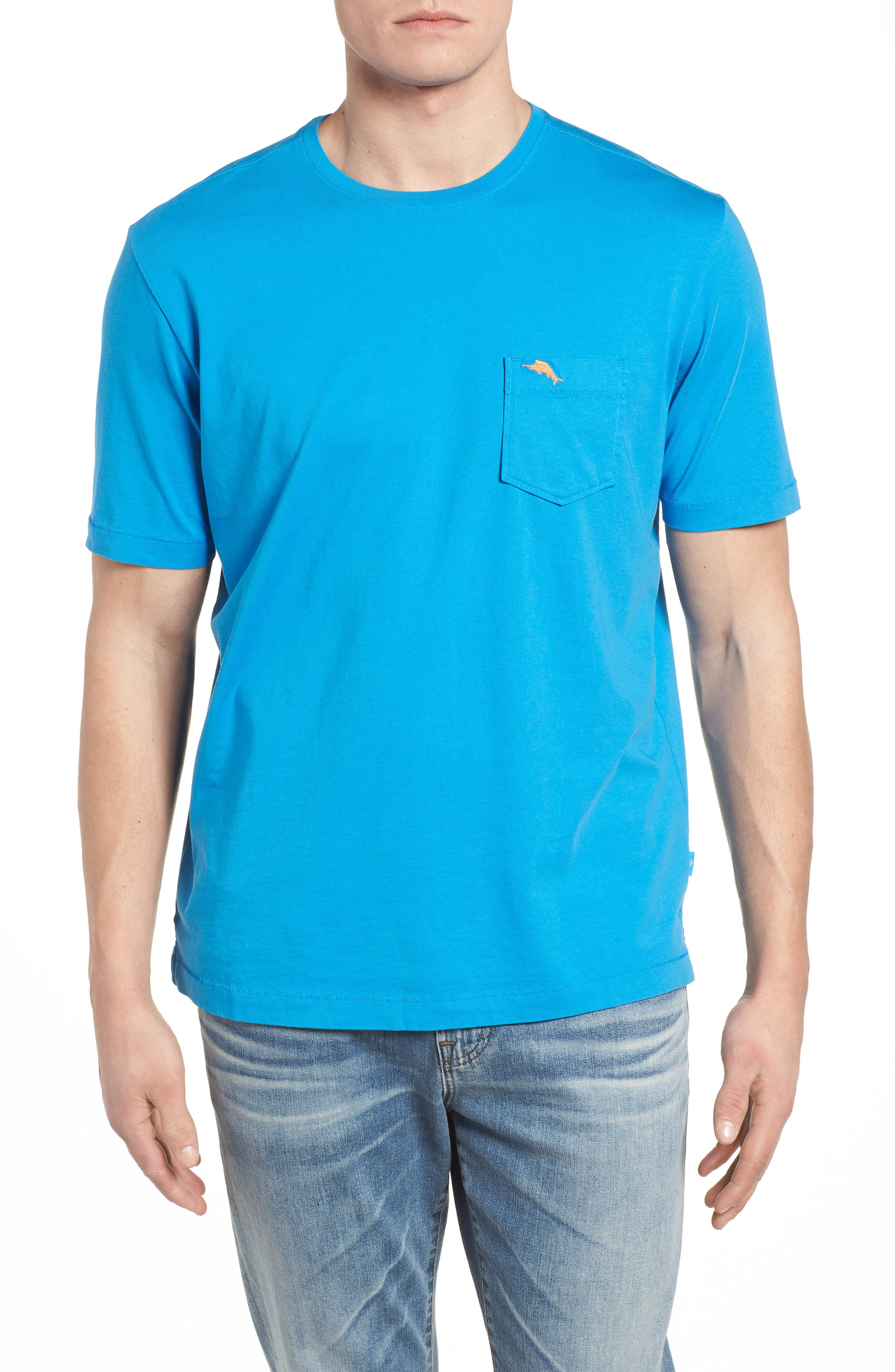 New Bali Skyline T-Shirt,                             Main thumbnail 1, color,                             Blue Canal