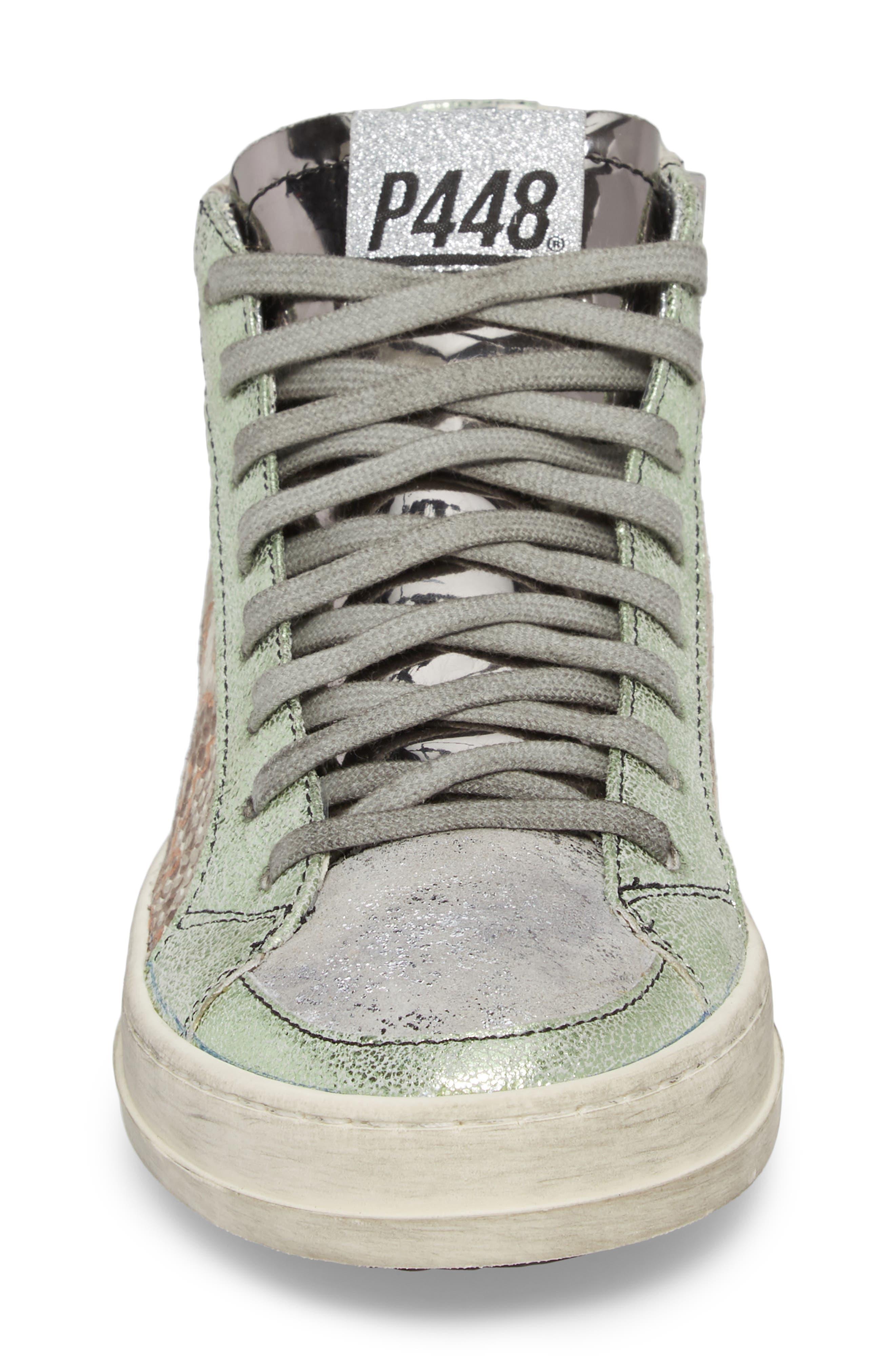 Skate High Top Sneaker,                             Alternate thumbnail 4, color,                             Jacobs Print