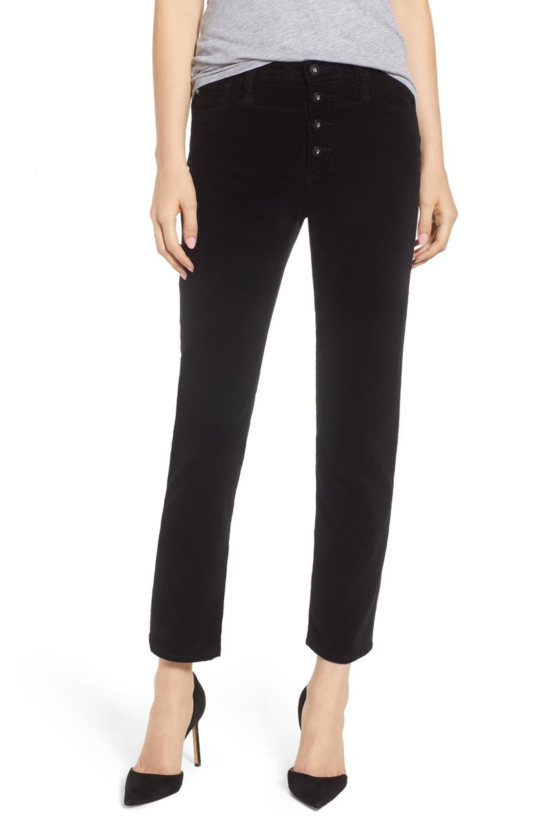 The Isabelle Button High Waist Ankle Straight Leg Jeans