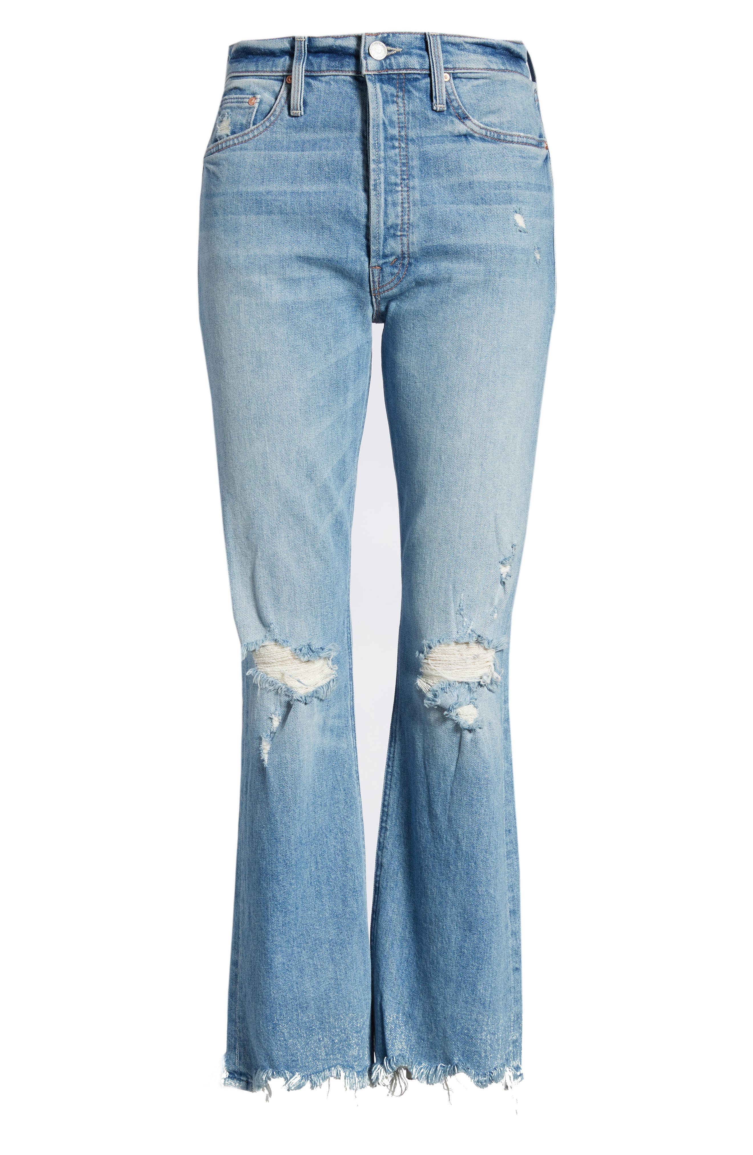 The Tripper Ripped Ankle Flare Jeans,                             Alternate thumbnail 7, color,                             Misbeliever
