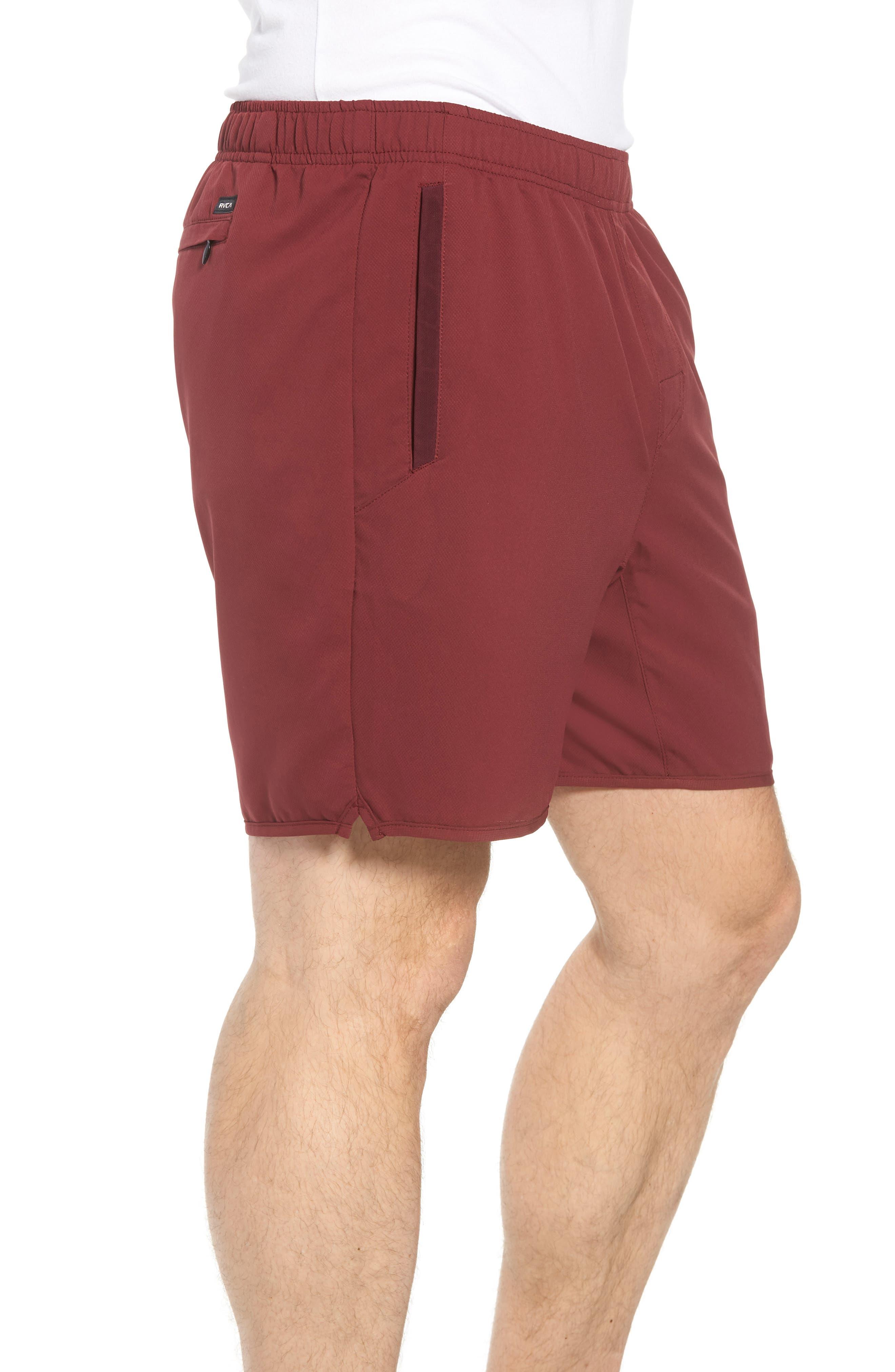 Yogger III Athletic Shorts,                             Alternate thumbnail 3, color,                             Tawny Port