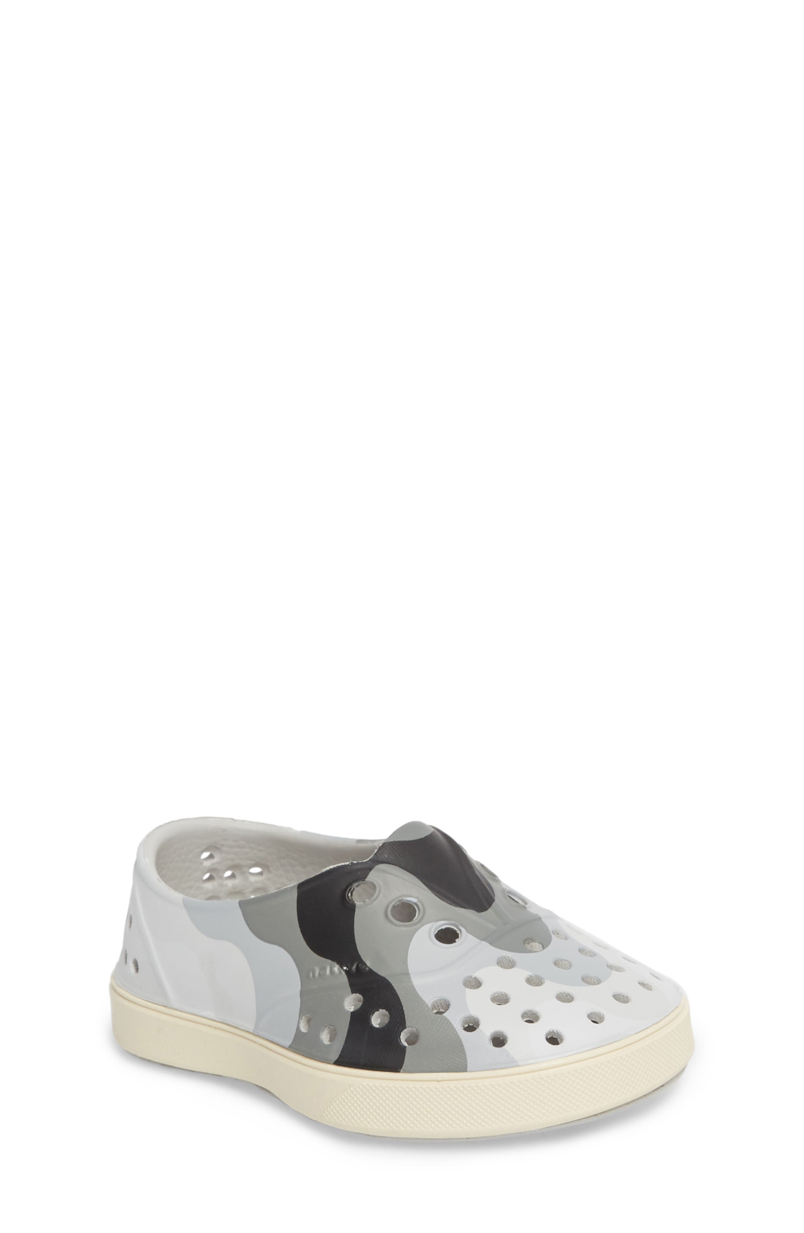 Native Shoes 'Miller' Water Friendly Perforated Sneaker (Baby, Walker, Toddler & Little Kid)