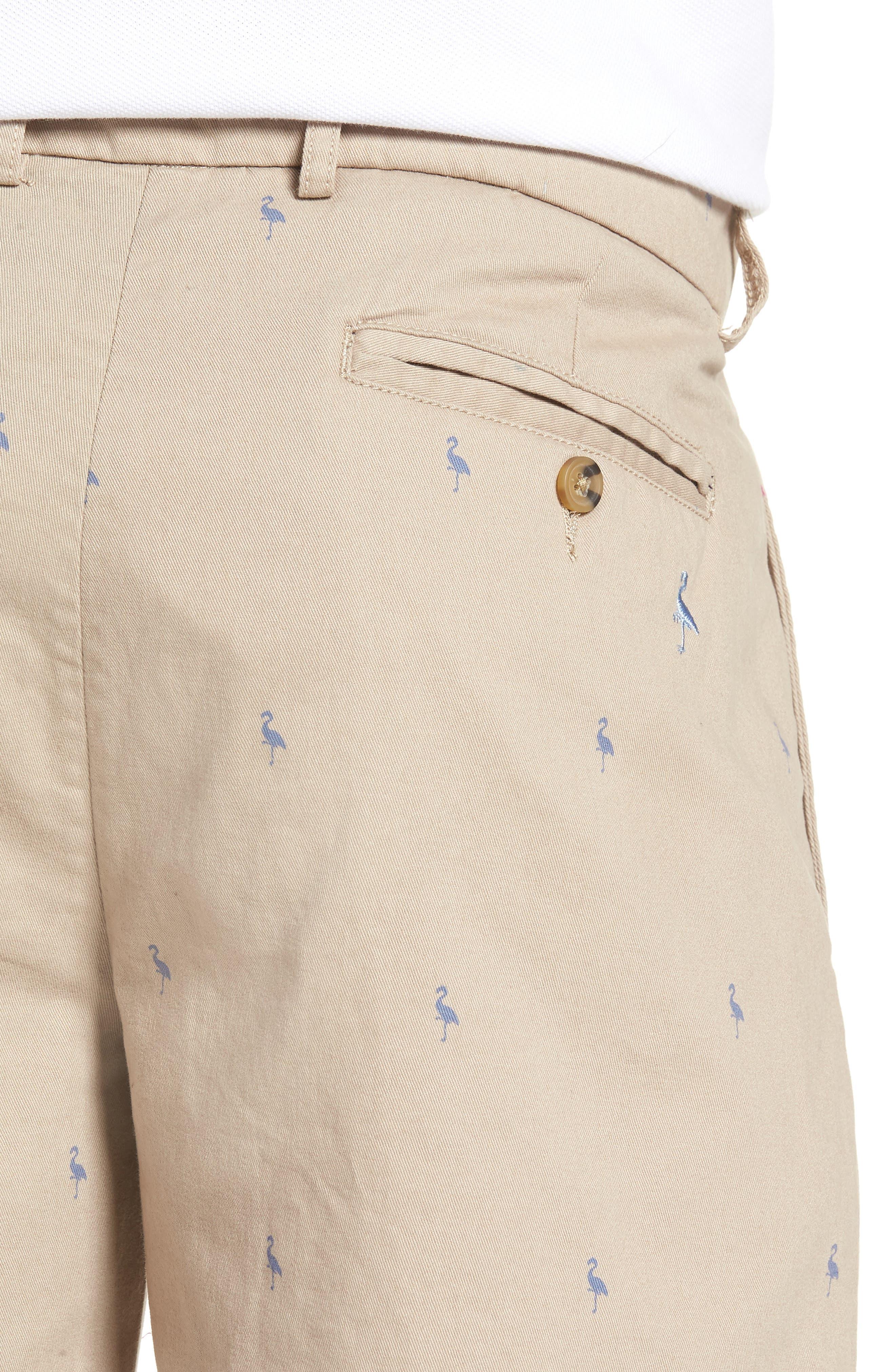 Baden Bird Regular Fit Chino Shorts,                             Alternate thumbnail 4, color,                             Dark Khaki