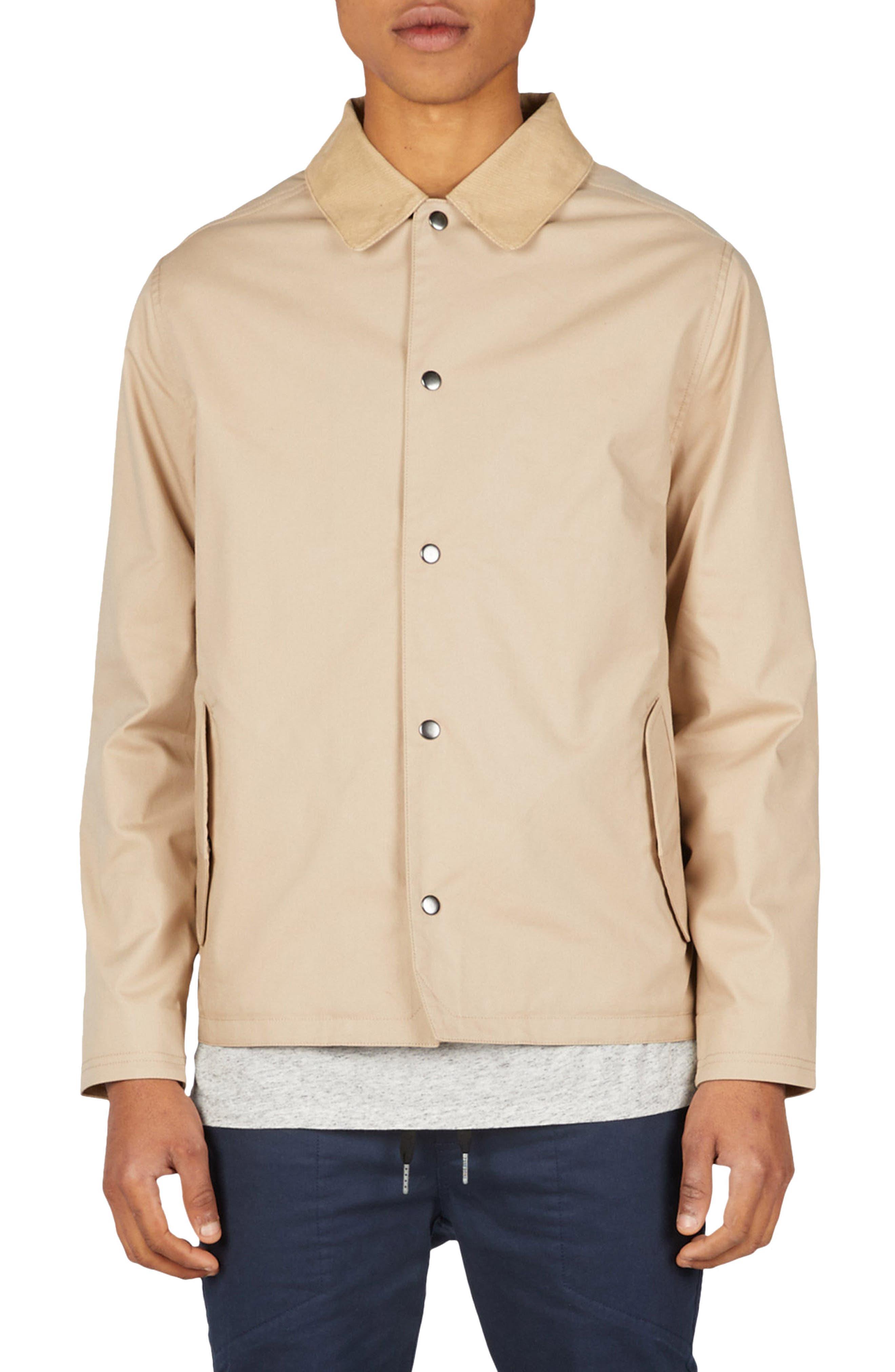 Coach's Jacket,                             Main thumbnail 1, color,                             Natural/ Black