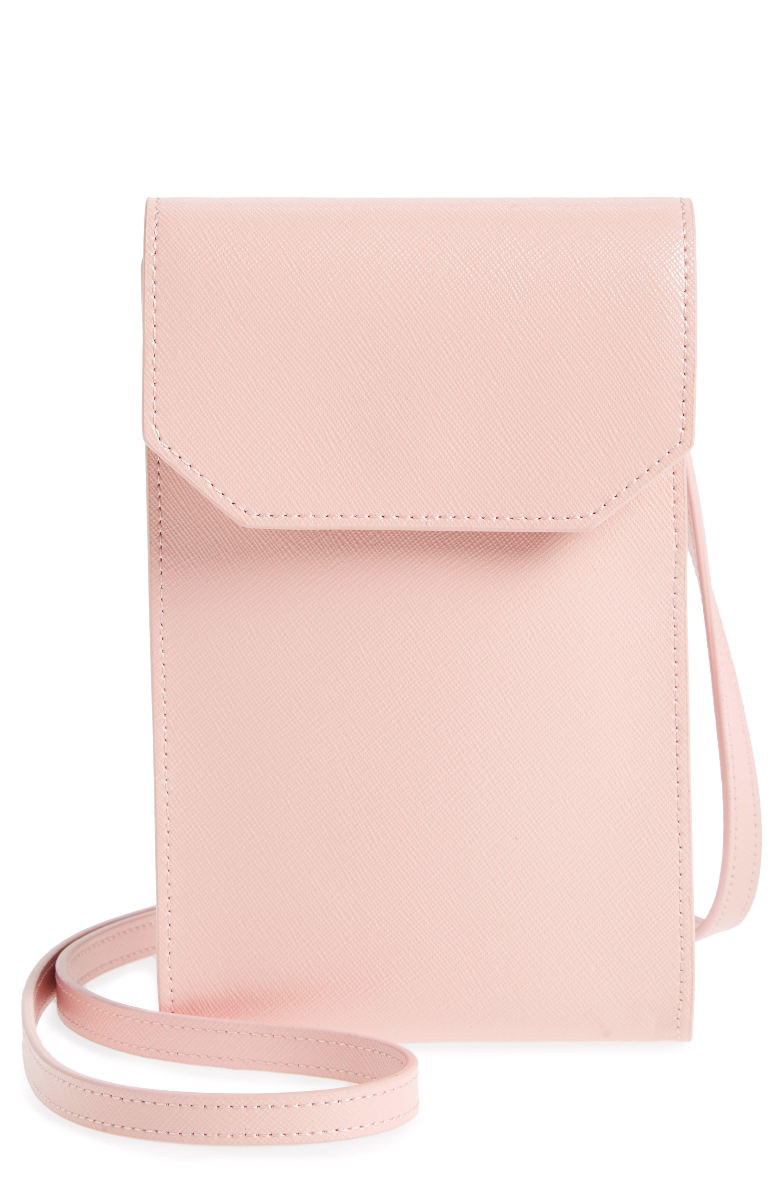 Nordstrom Leather Phone Crossbody Bag
