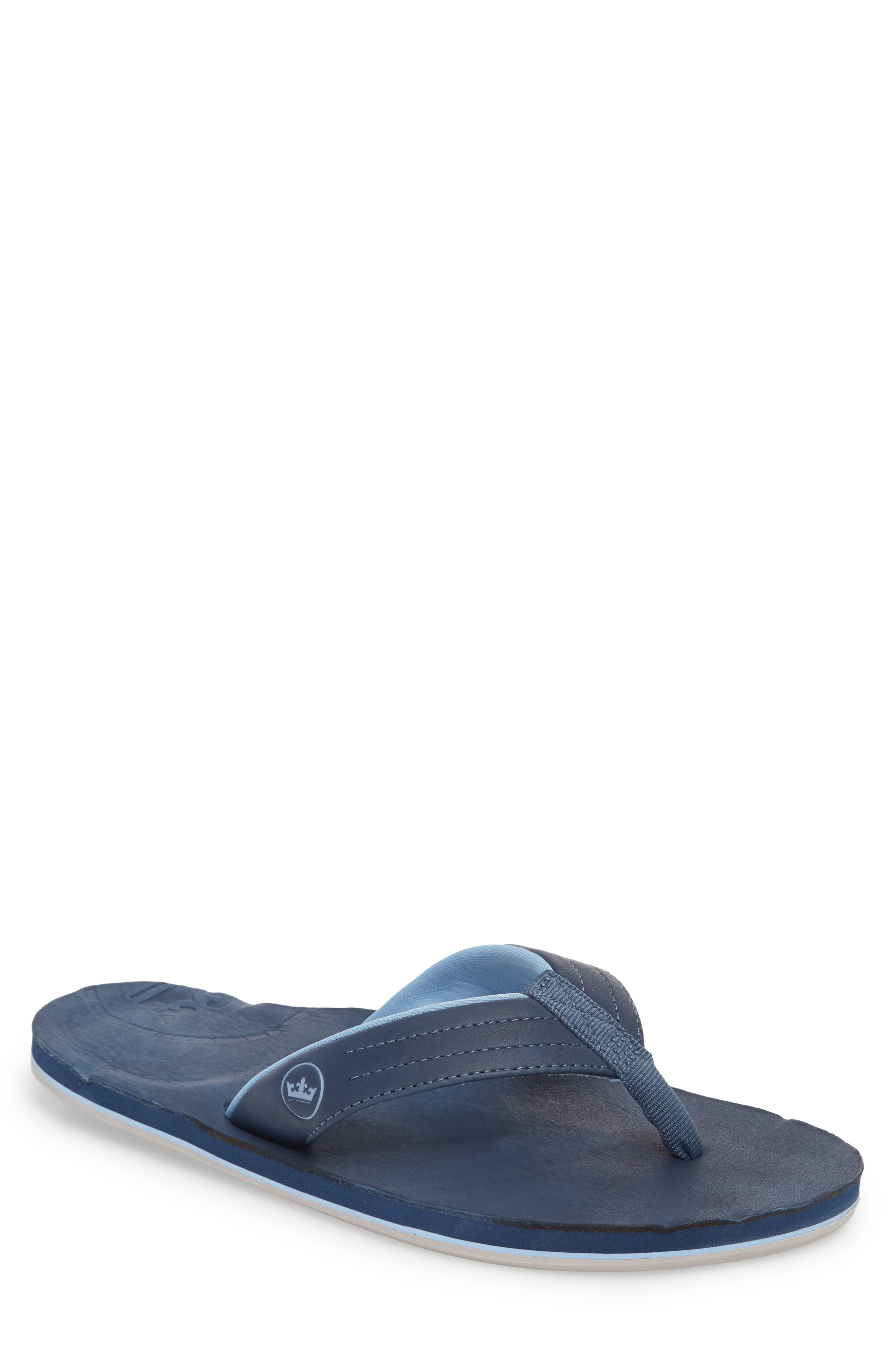hari mari x Peter Millar Leather Flip Flop (Men)