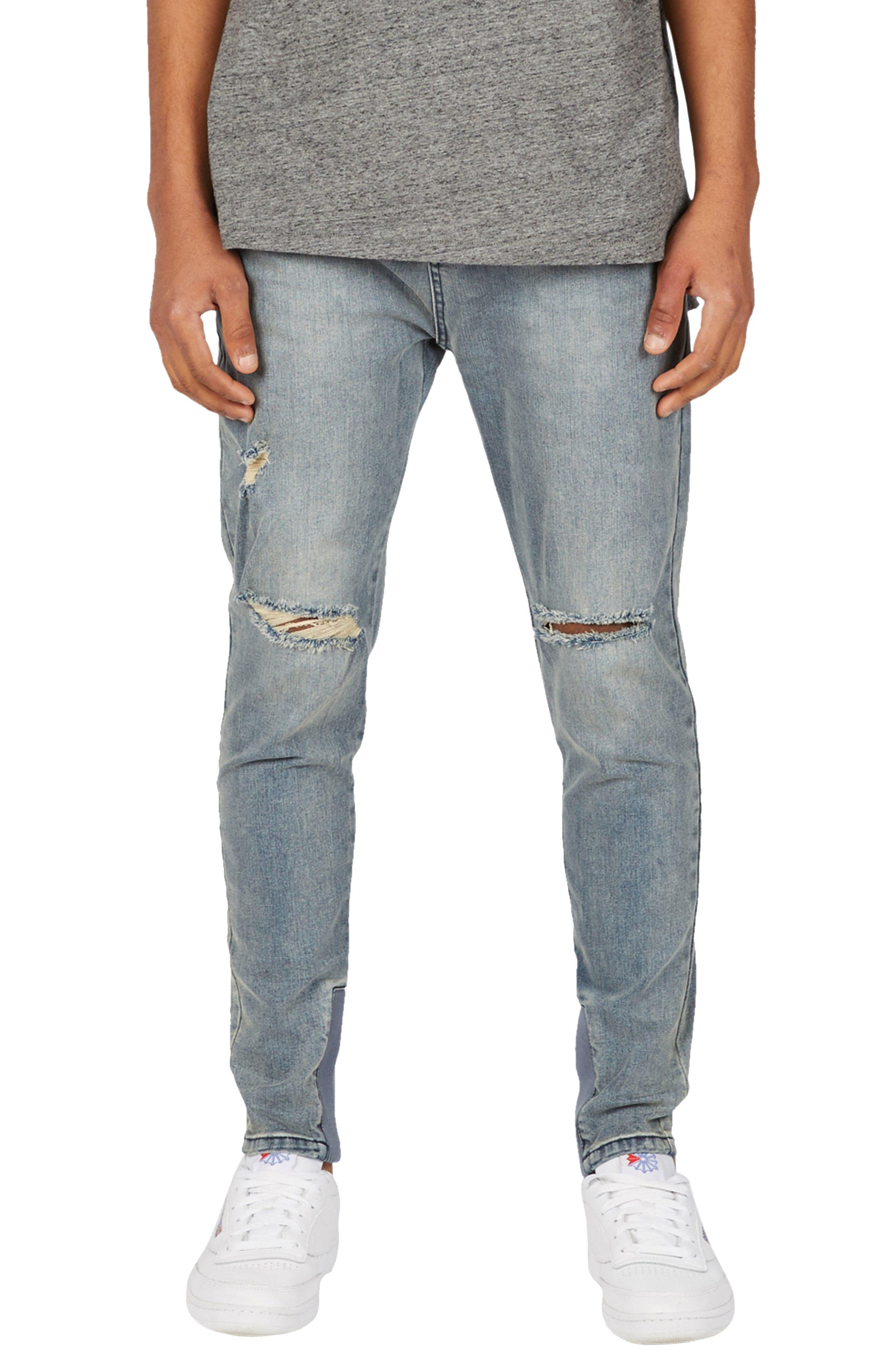Sharpshot Slouchy Slim Fit Jeans,                             Main thumbnail 1, color,                             Double Indigo