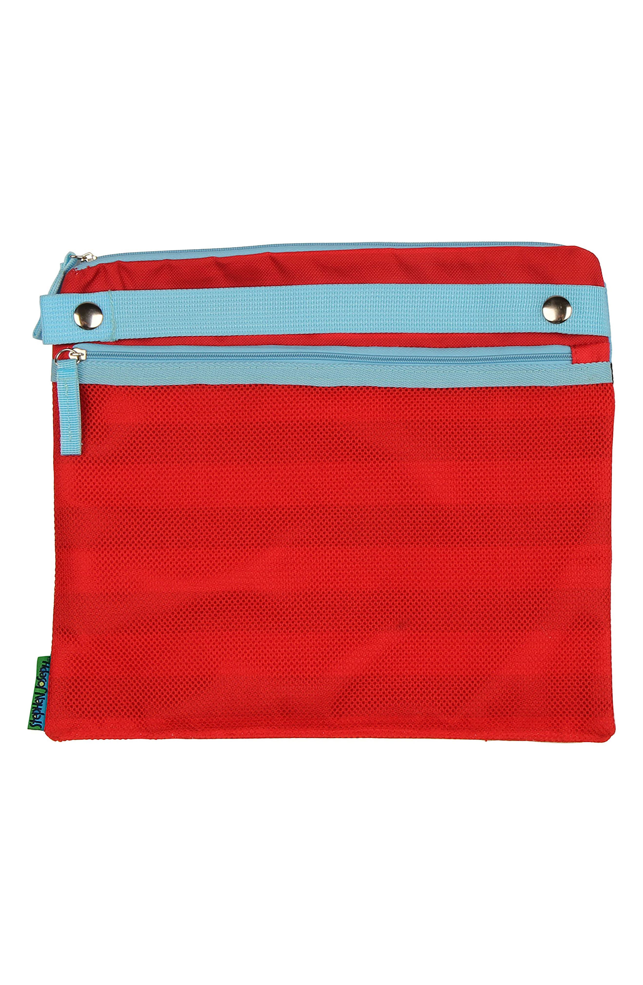Bag, Hooded Towel & Goggles,                             Alternate thumbnail 3, color,                             Red