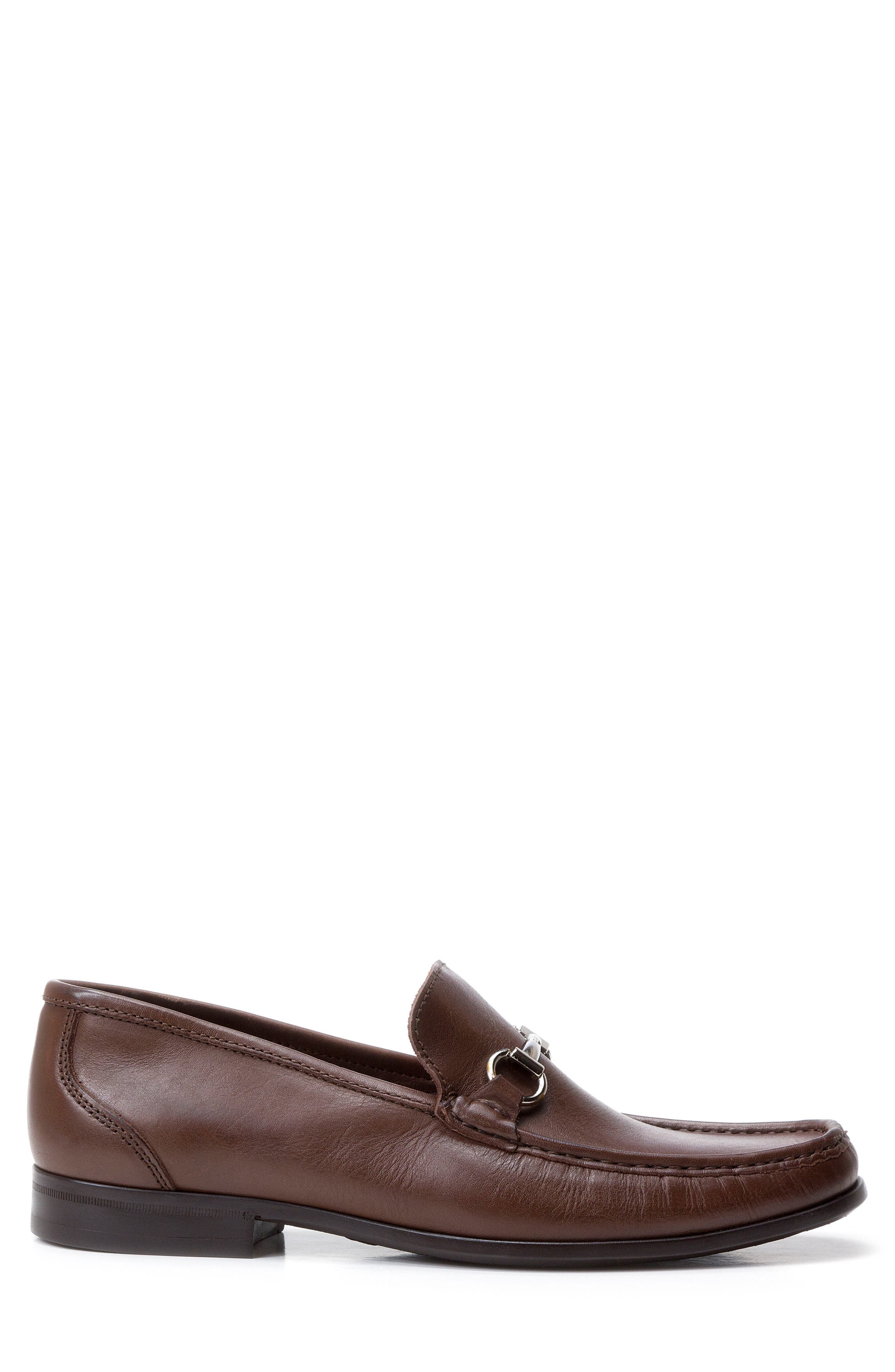 'Malibu' Suede Bit Loafer,                             Alternate thumbnail 3, color,                             Brown Leather