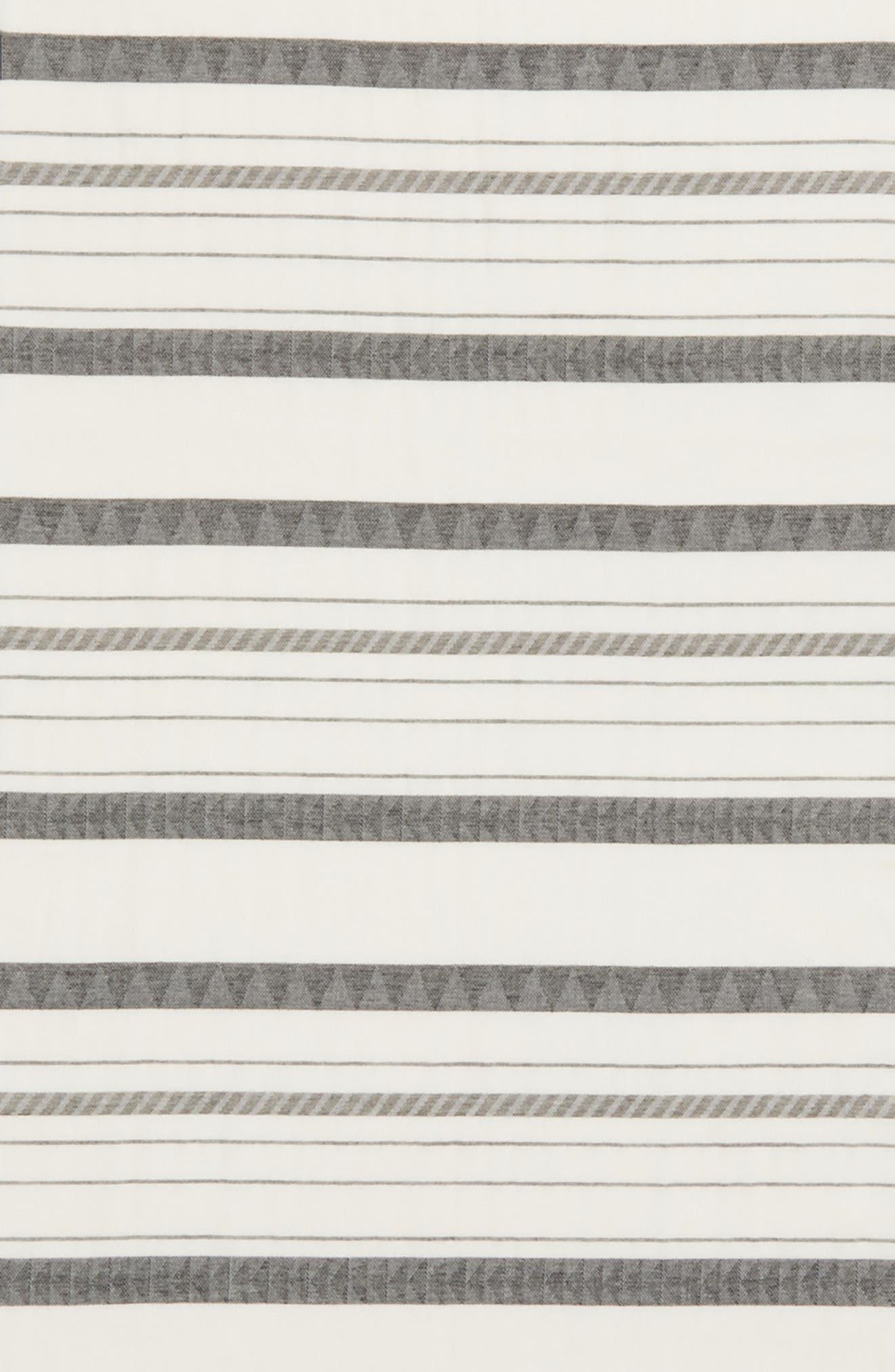 Stripe Organic Cotton & Linen Scarf,                             Alternate thumbnail 6, color,                             White