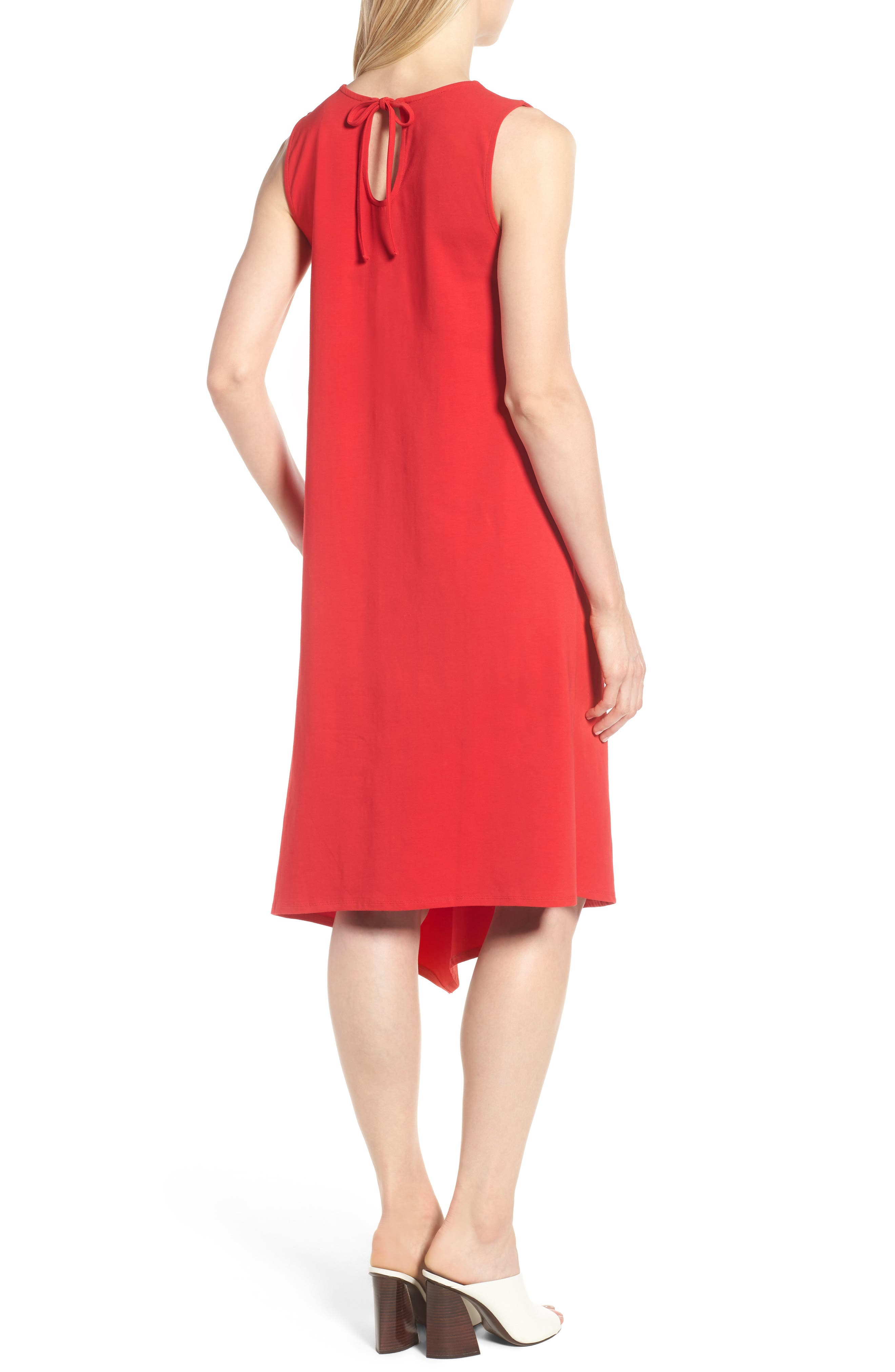 Sweet Escape Tank Dress,                             Alternate thumbnail 2, color,                             Red Sangria