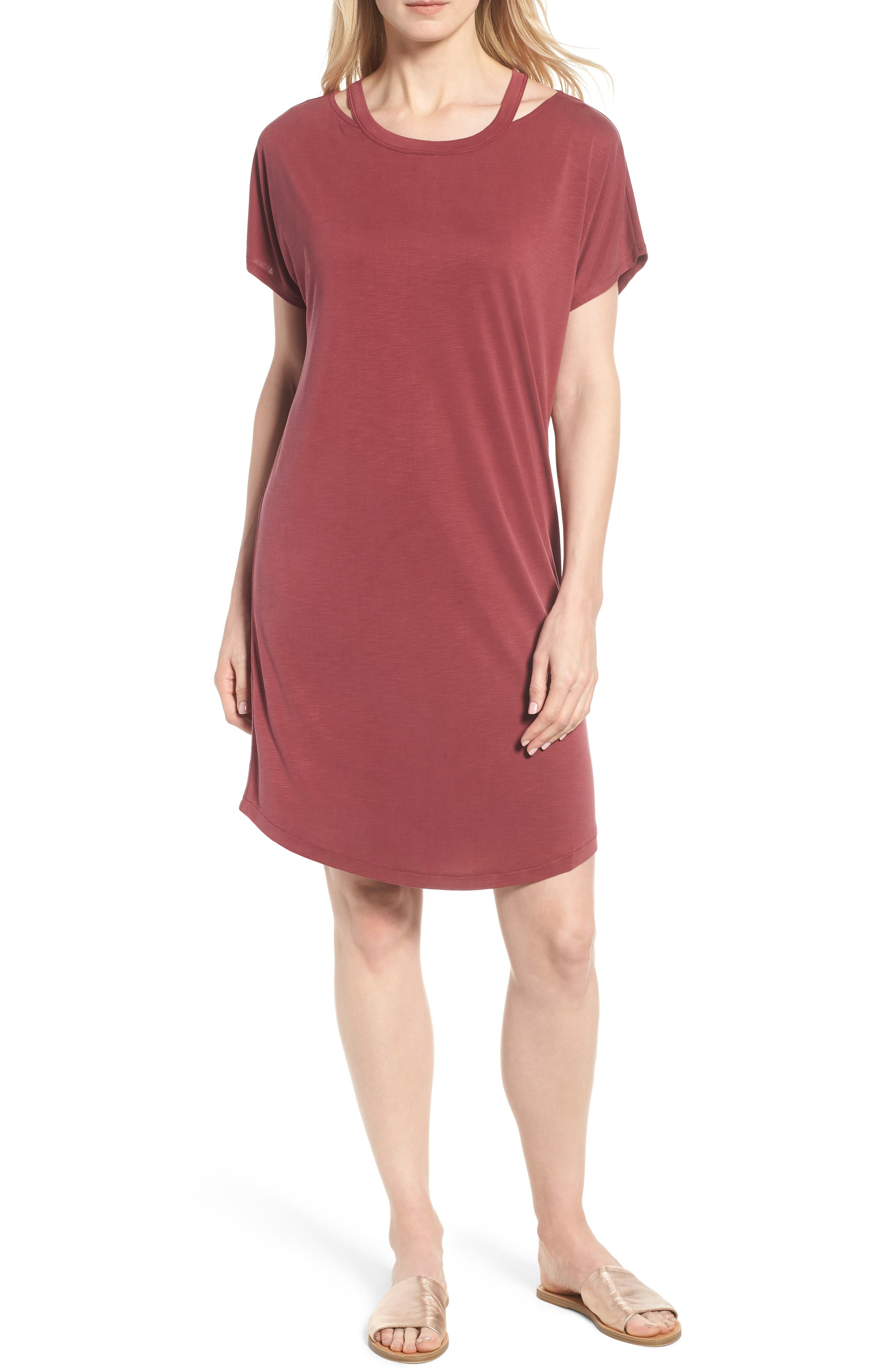 Open Road Dress,                         Main,                         color, Washed Raisin