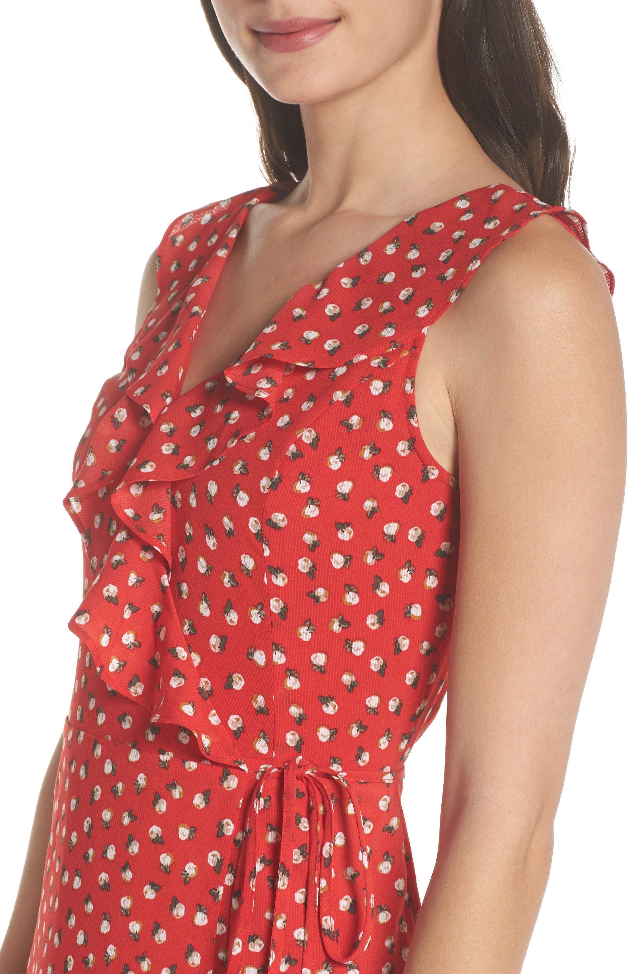 Nora Maxi Dress,                             Alternate thumbnail 4, color,                             Cherry