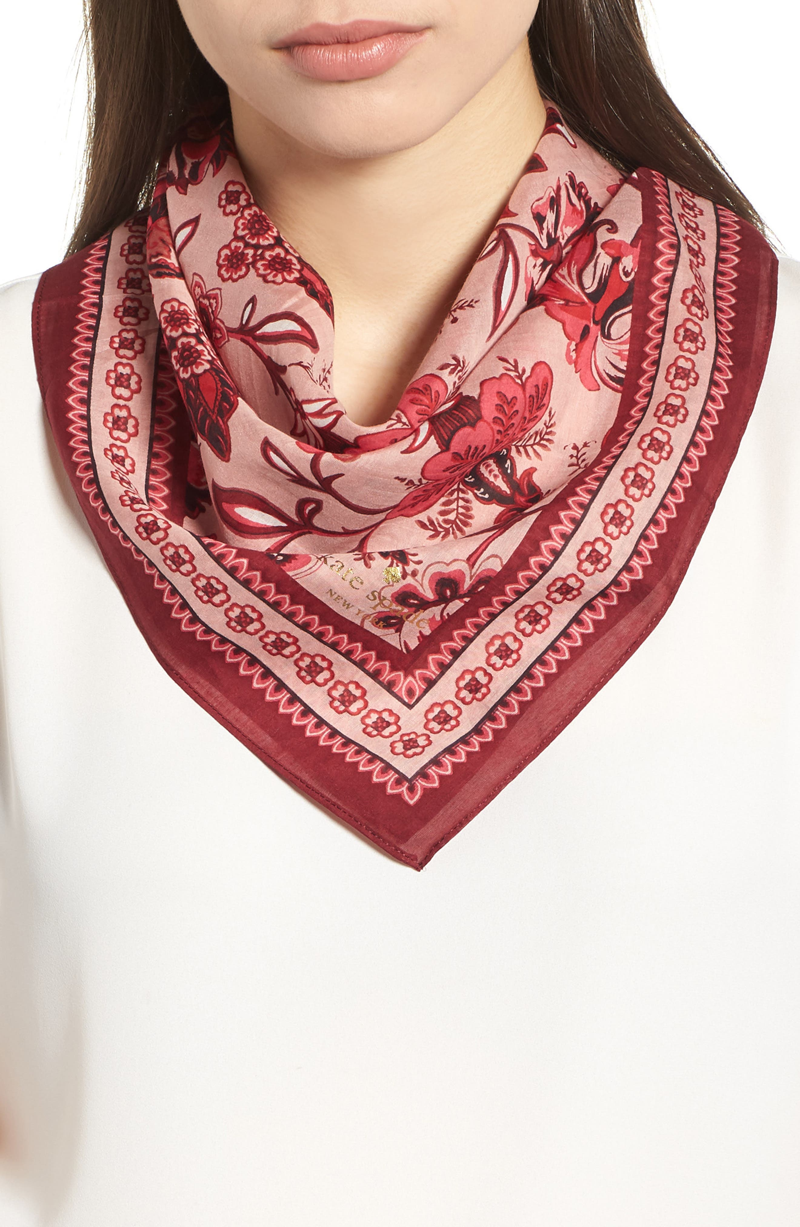 kate spade new york paisley bloom silk bandana