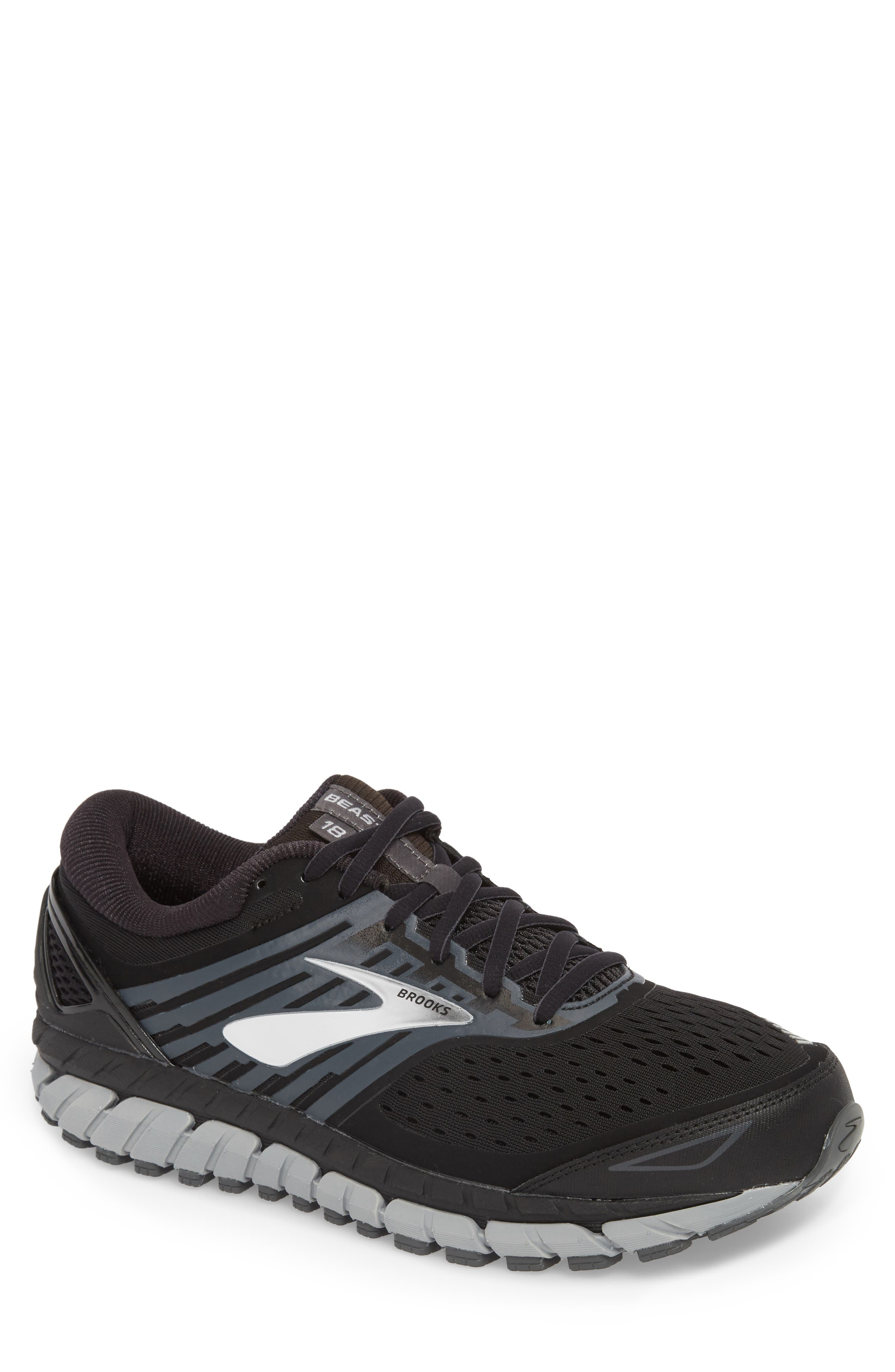 Beast '18 Running Shoe,                         Main,                         color, Black/ Grey/ Silver