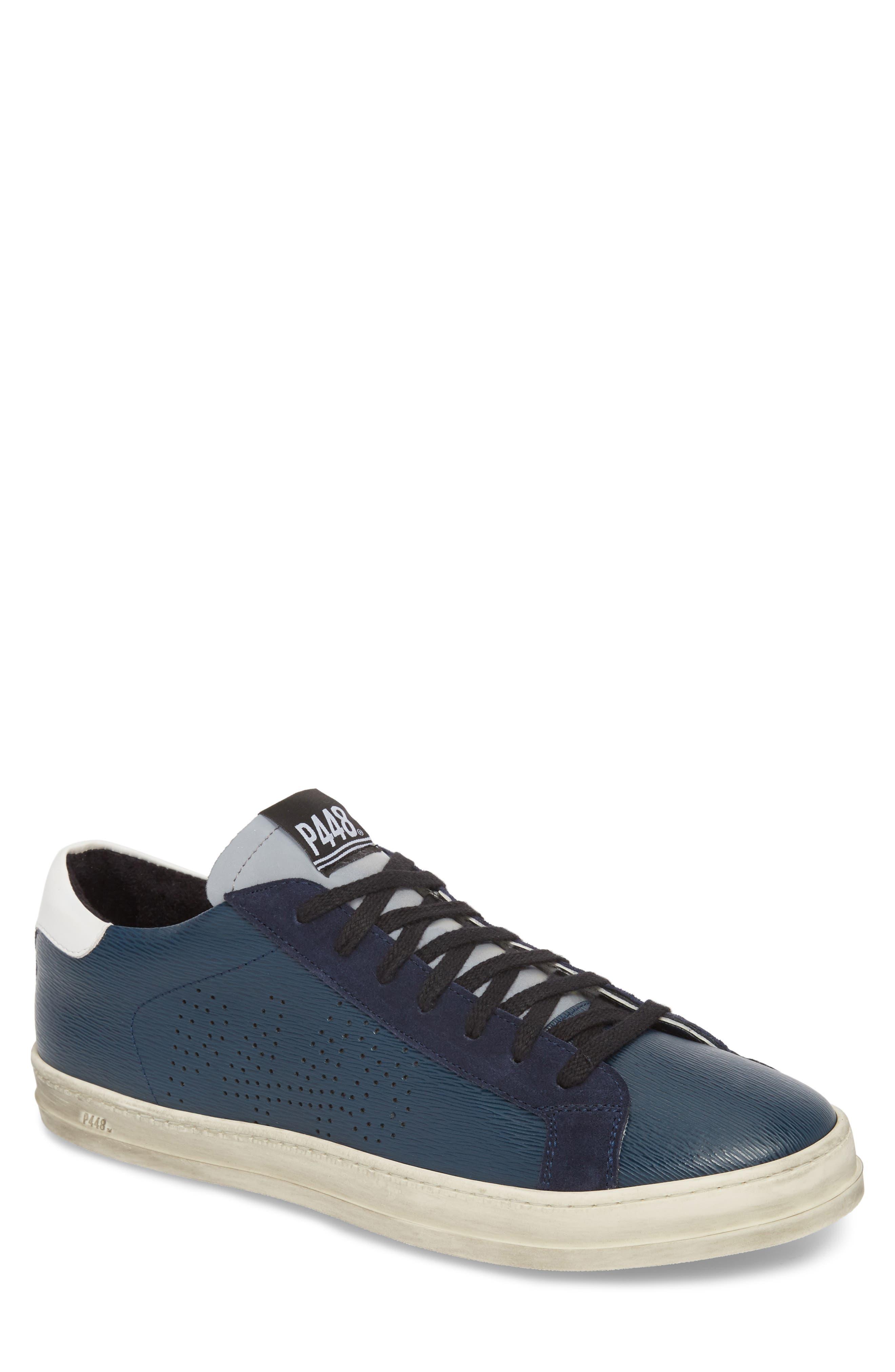John Low Top Sneaker,                         Main,                         color, Navy