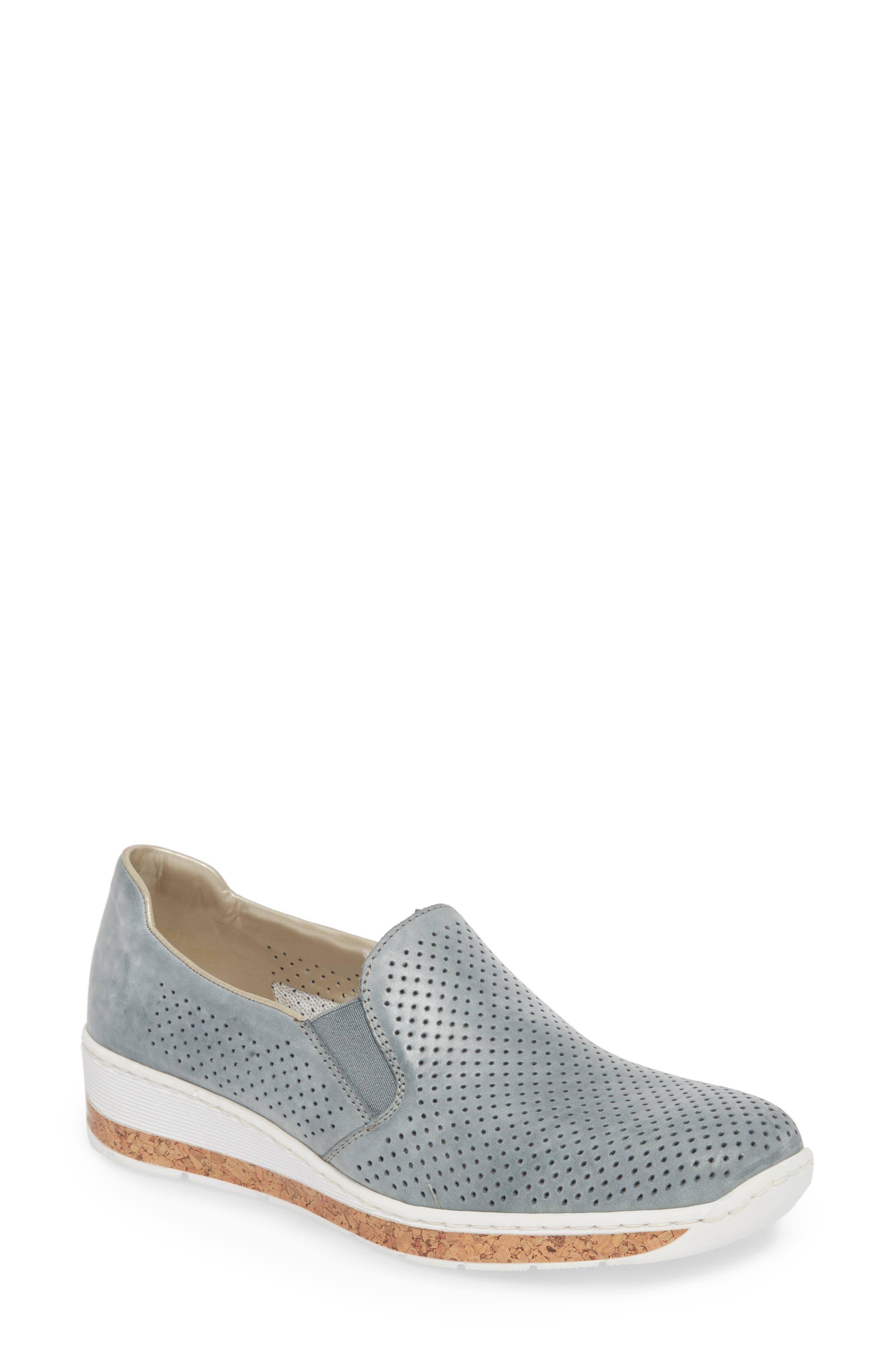 Doris 75 Wedge Sneaker,                         Main,                         color, Royal Faux Leather