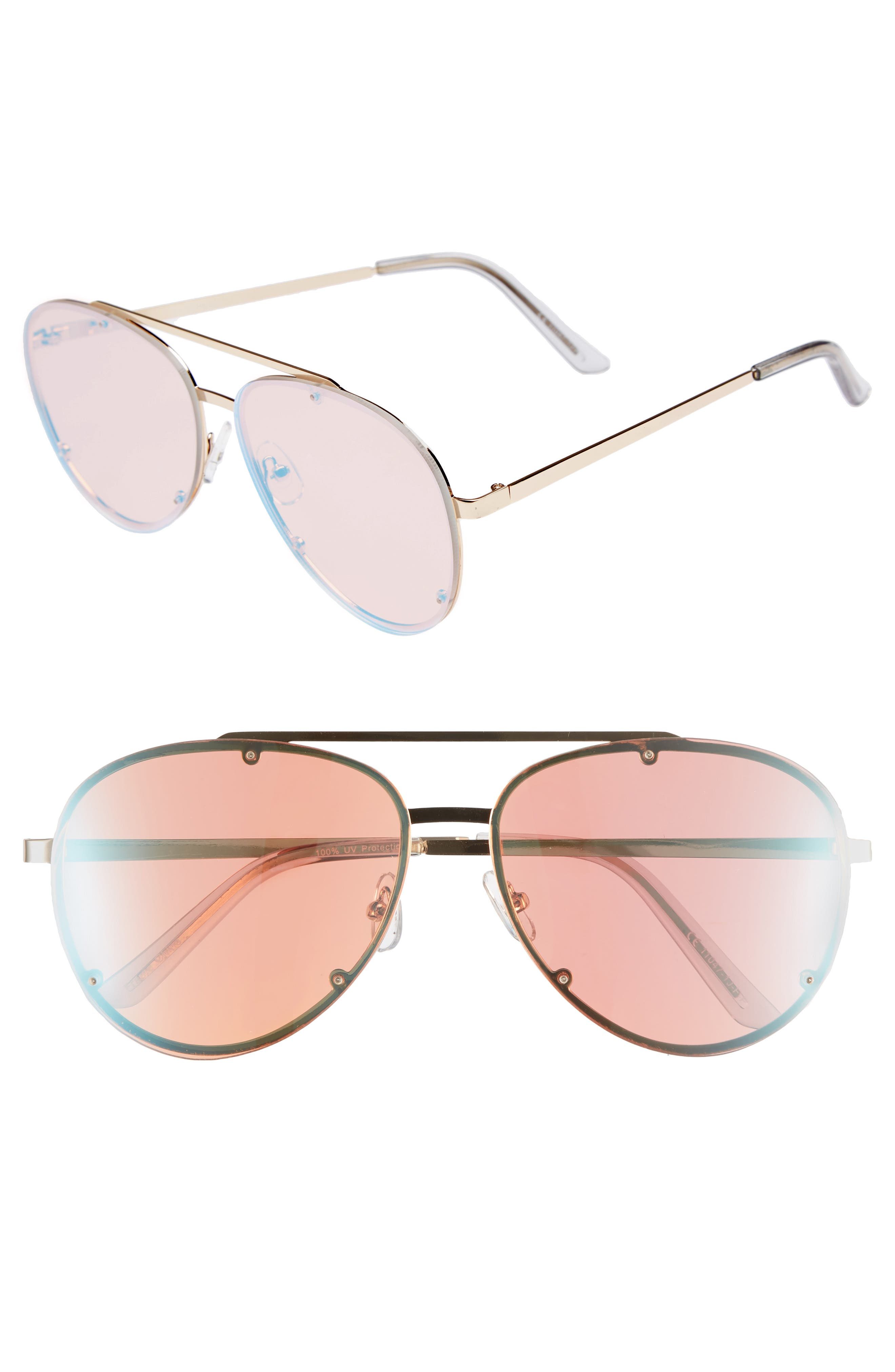 59mm Aviator Sunglasses,                             Main thumbnail 1, color,                             Multi