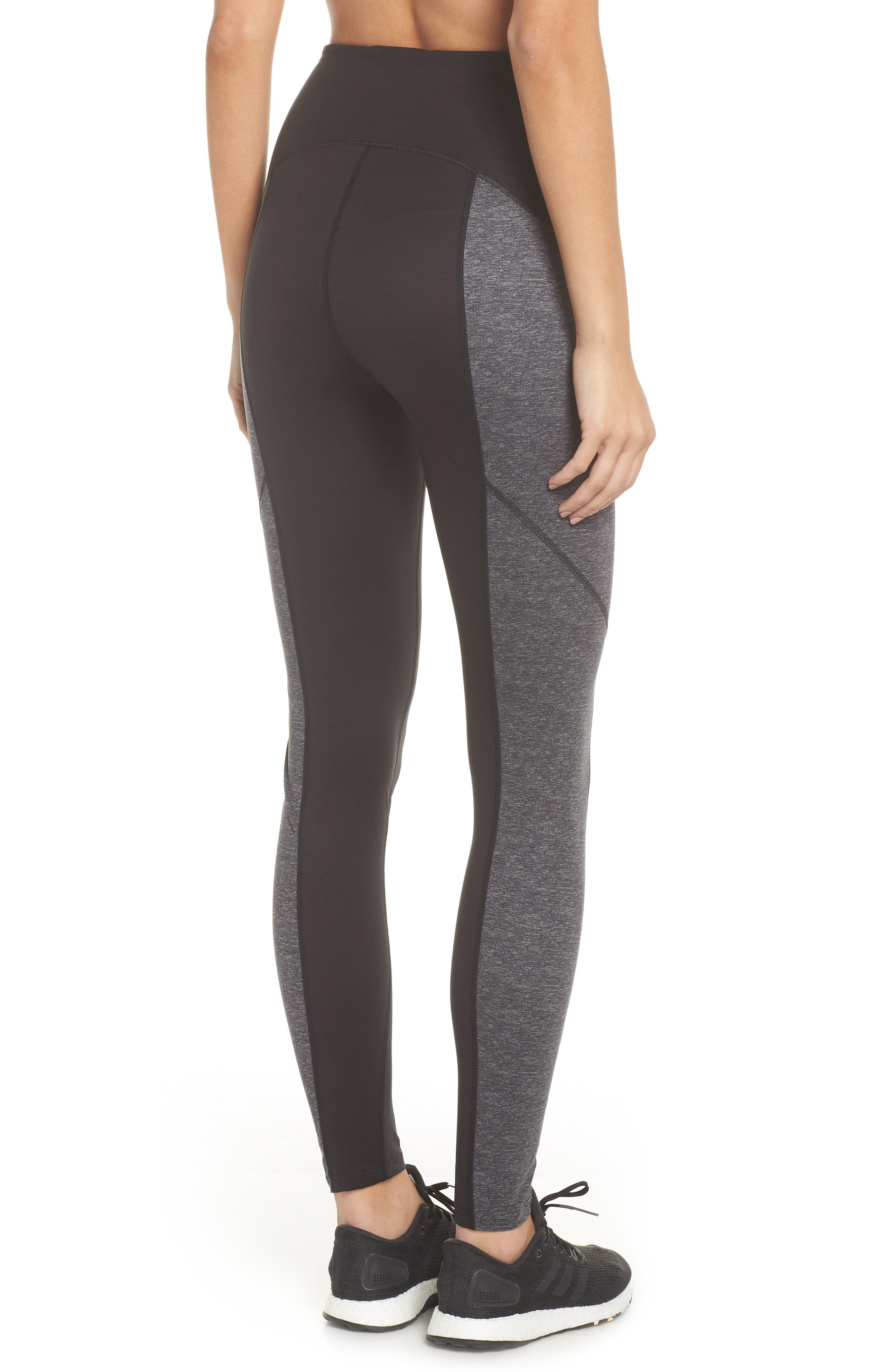 Colorblock Active Leggings,                             Alternate thumbnail 2, color,                             Marled Heather