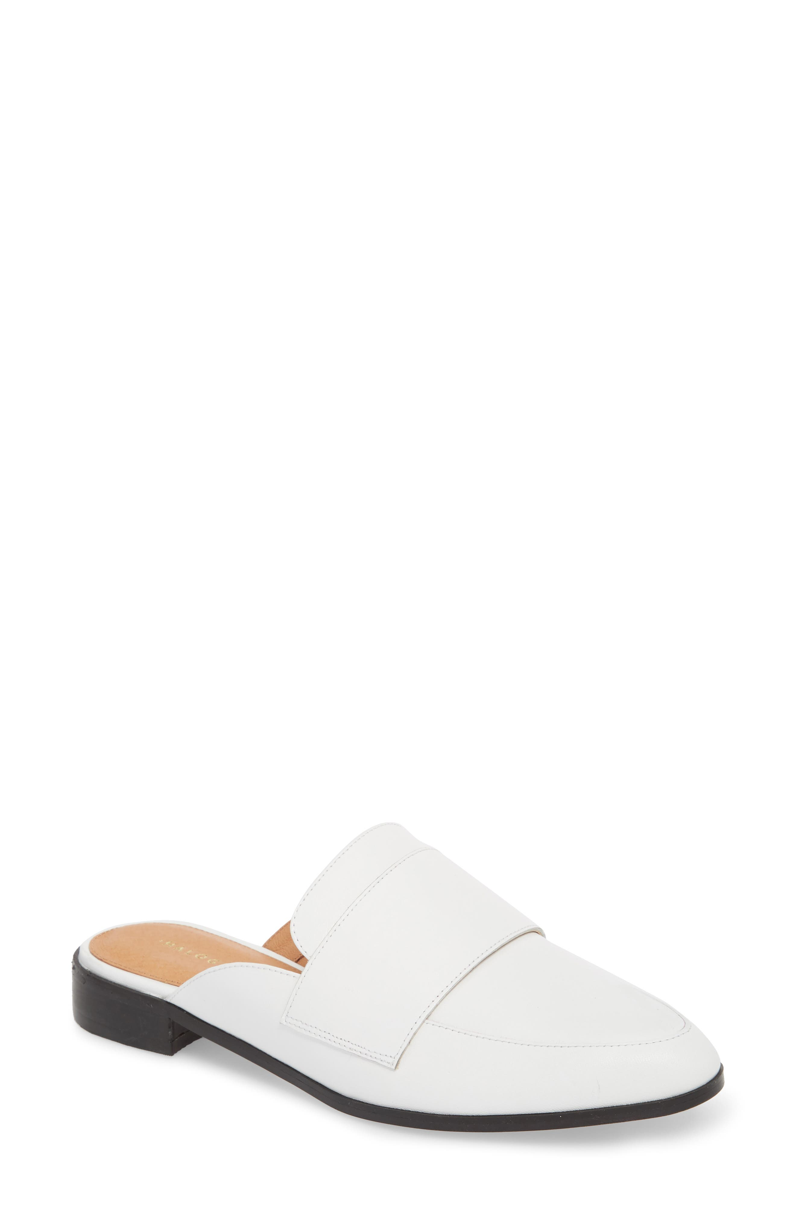 Violet Mule,                         Main,                         color, White Leather
