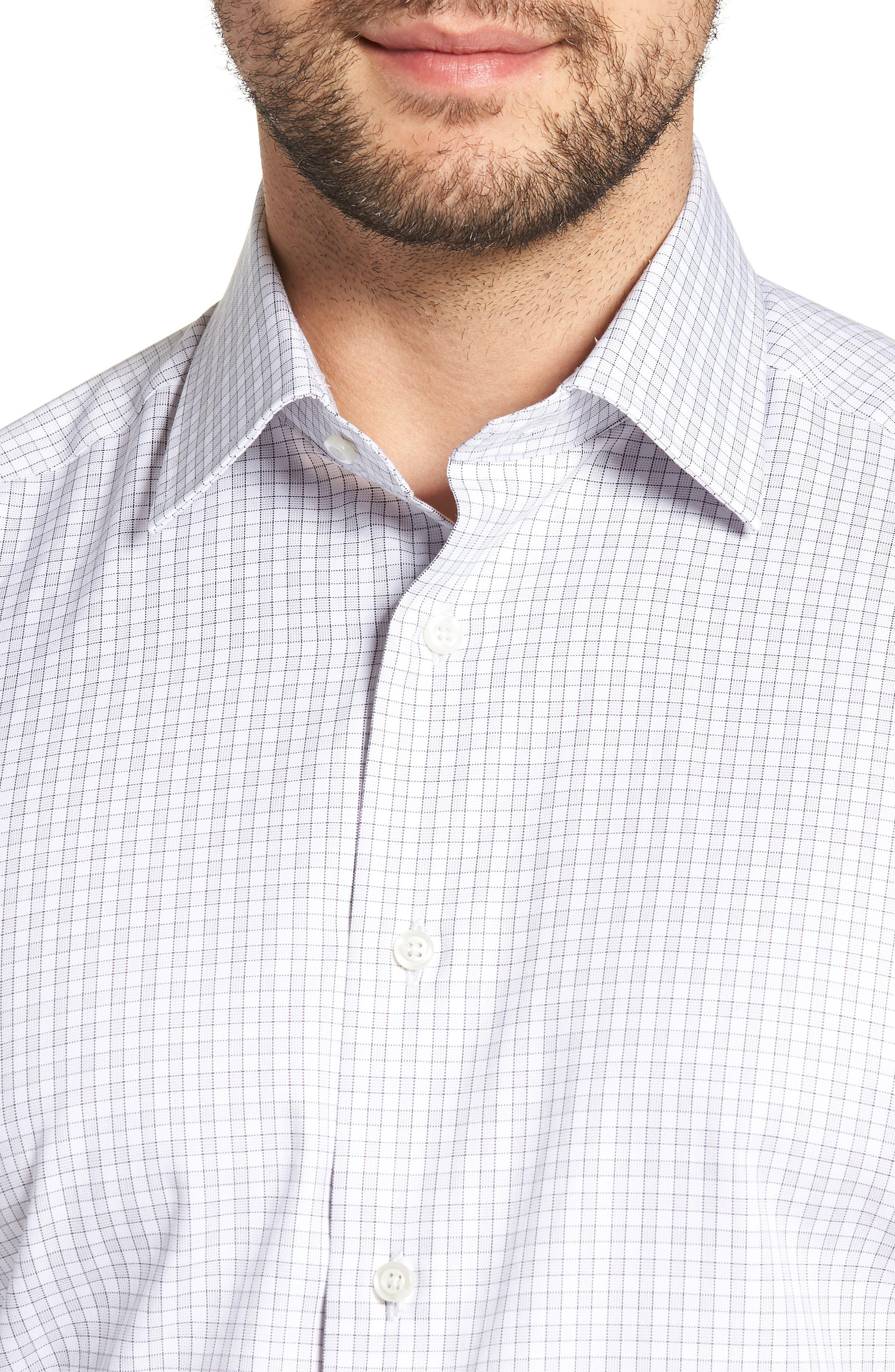 Regular Fit Check Dress Shirt,                             Alternate thumbnail 2, color,                             Gray