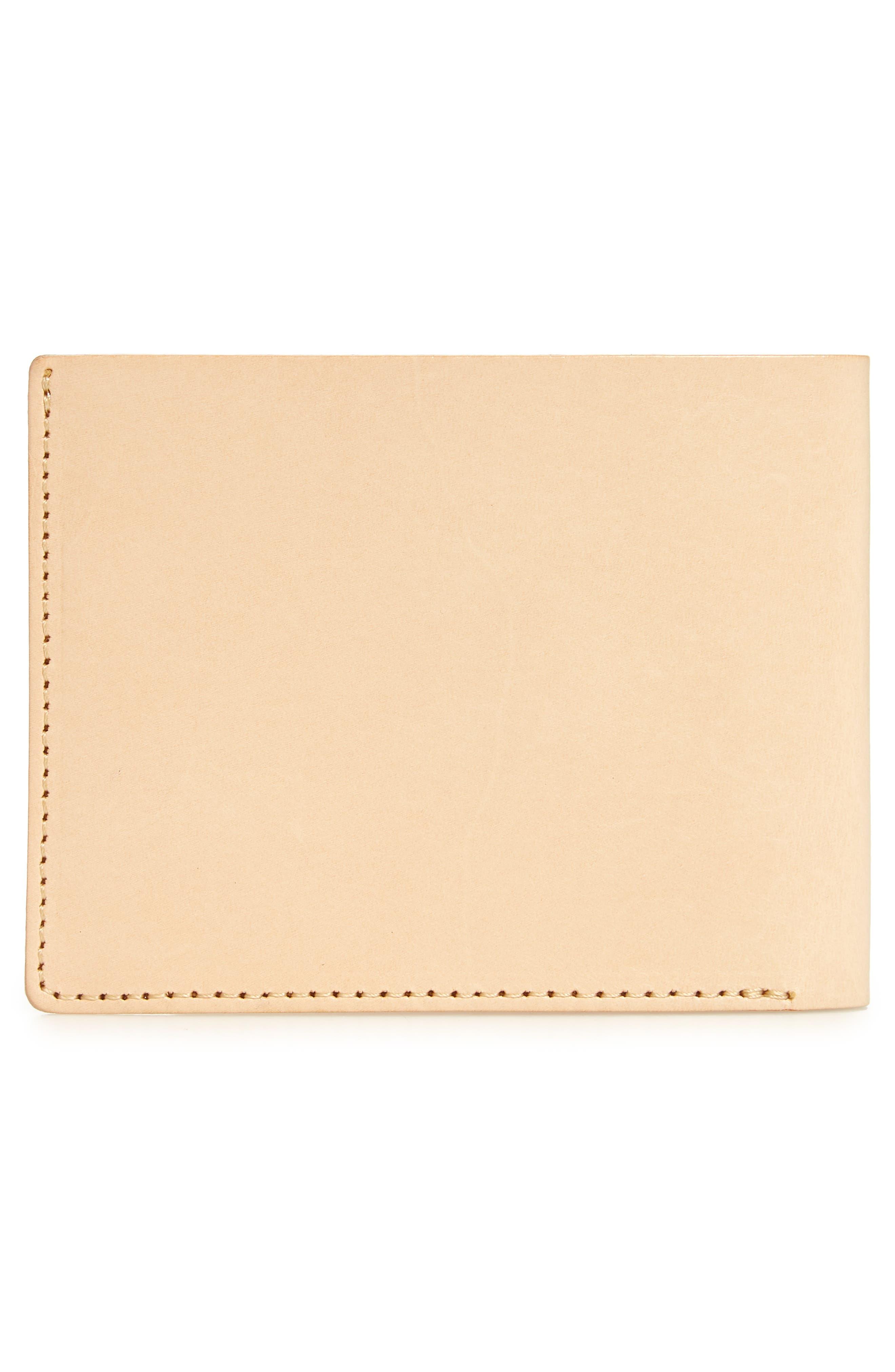 Bifold Leather Wallet,                             Alternate thumbnail 2, color,                             Vegetable Tan