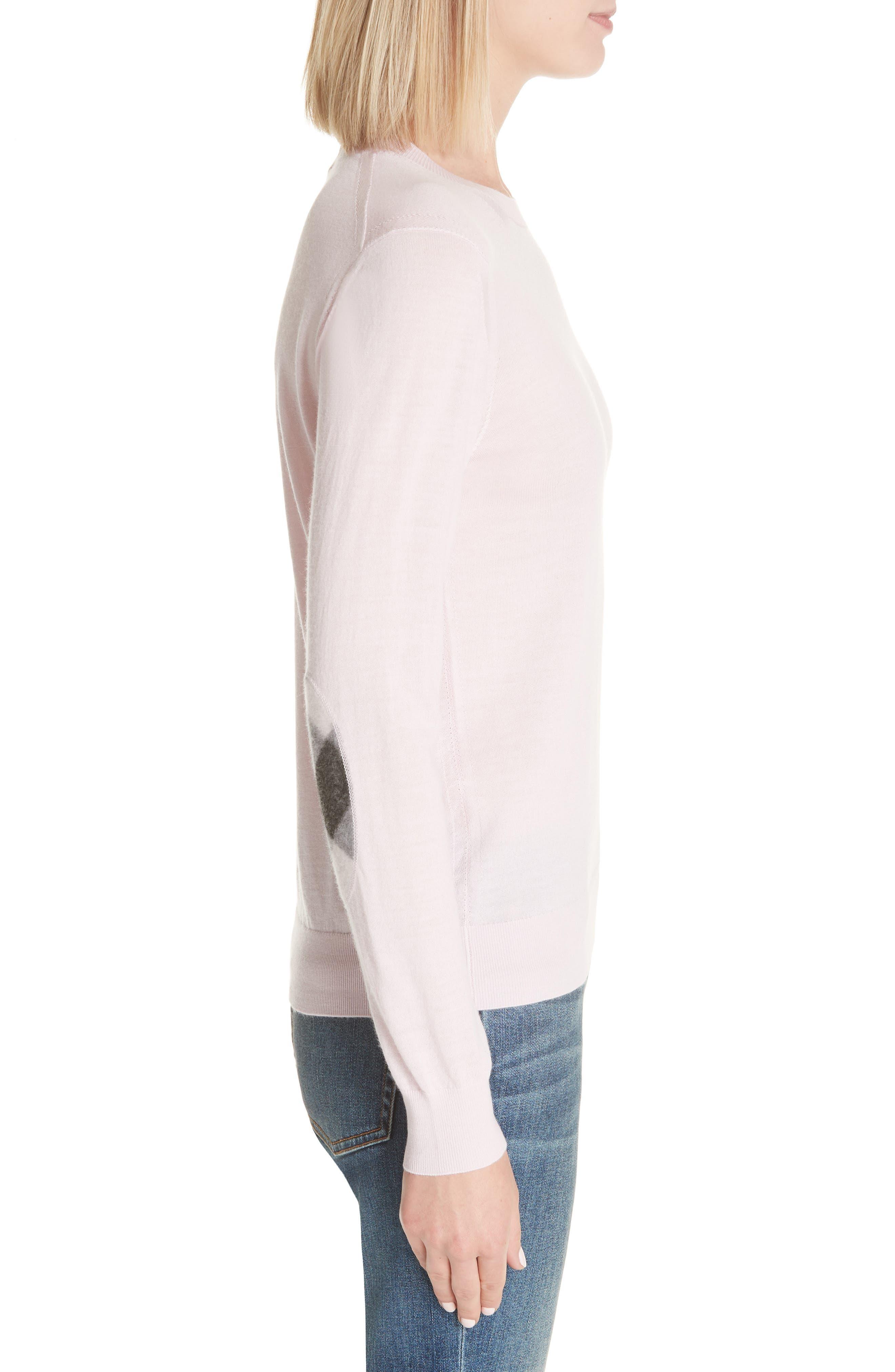 Viar Merino Wool Sweater,                             Alternate thumbnail 3, color,                             Light Pink