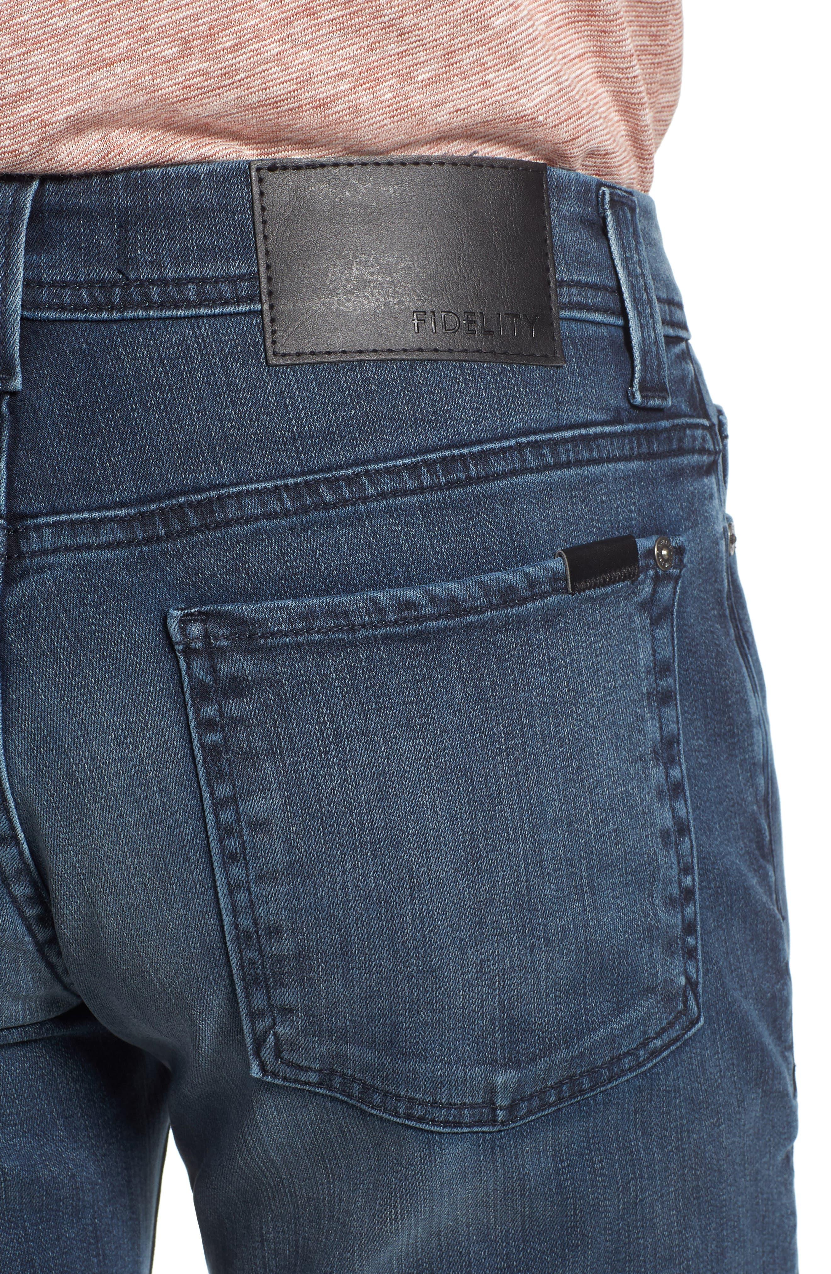 Jimmy Slim Straight Leg Jeans,                             Alternate thumbnail 4, color,                             Lexicon