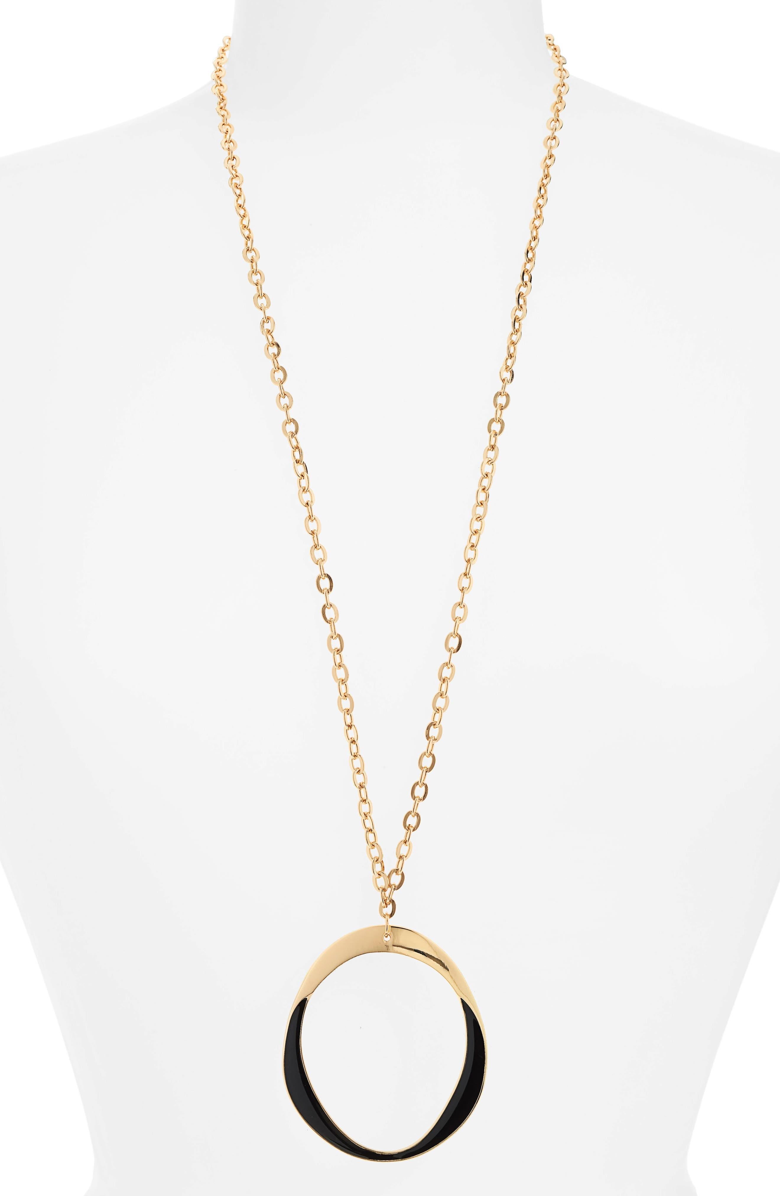Couture Long Pendant Necklace,                         Main,                         color, Gold