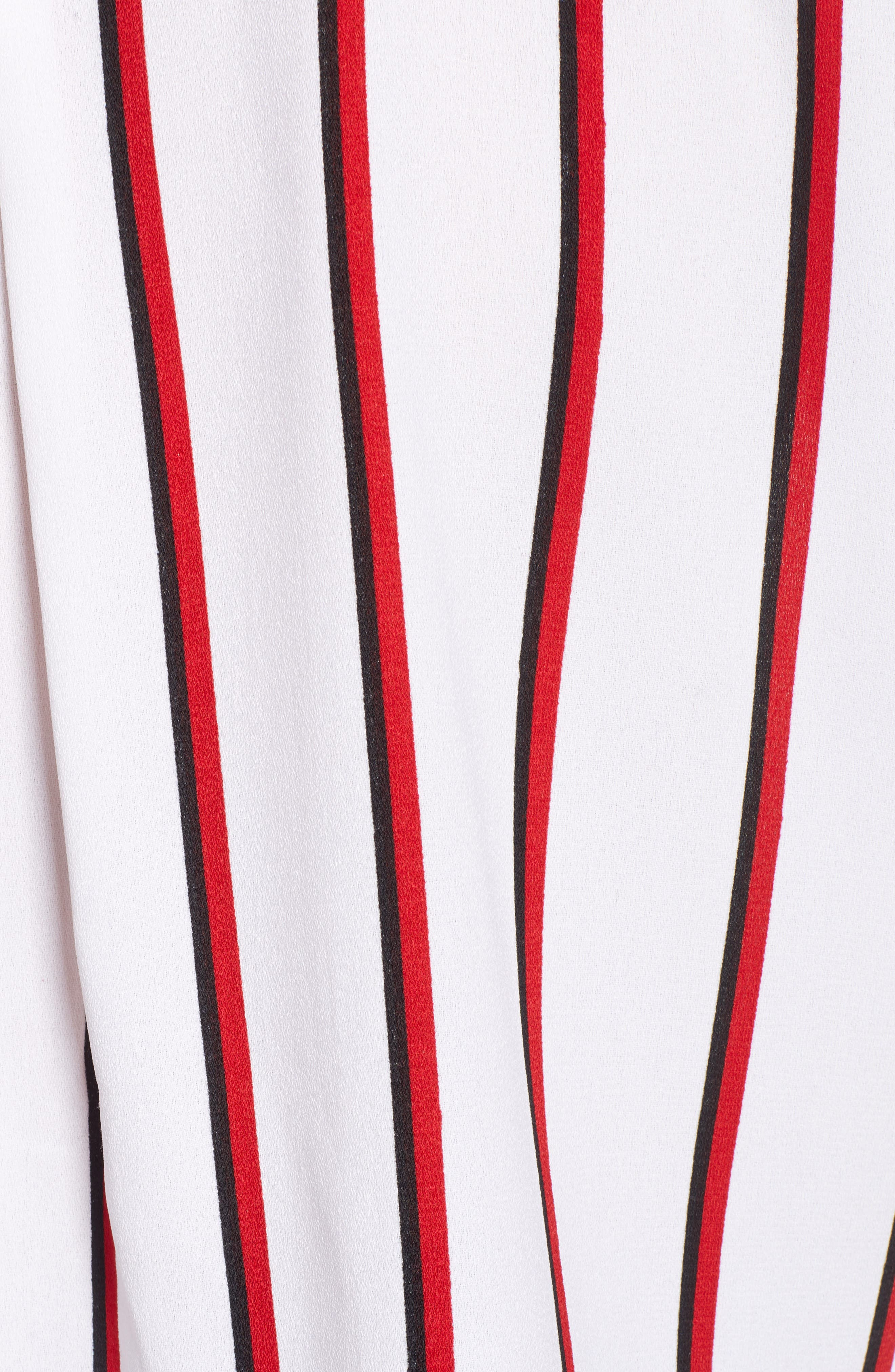 Counting Moons Stripe Top,                             Alternate thumbnail 5, color,                             Chili Red