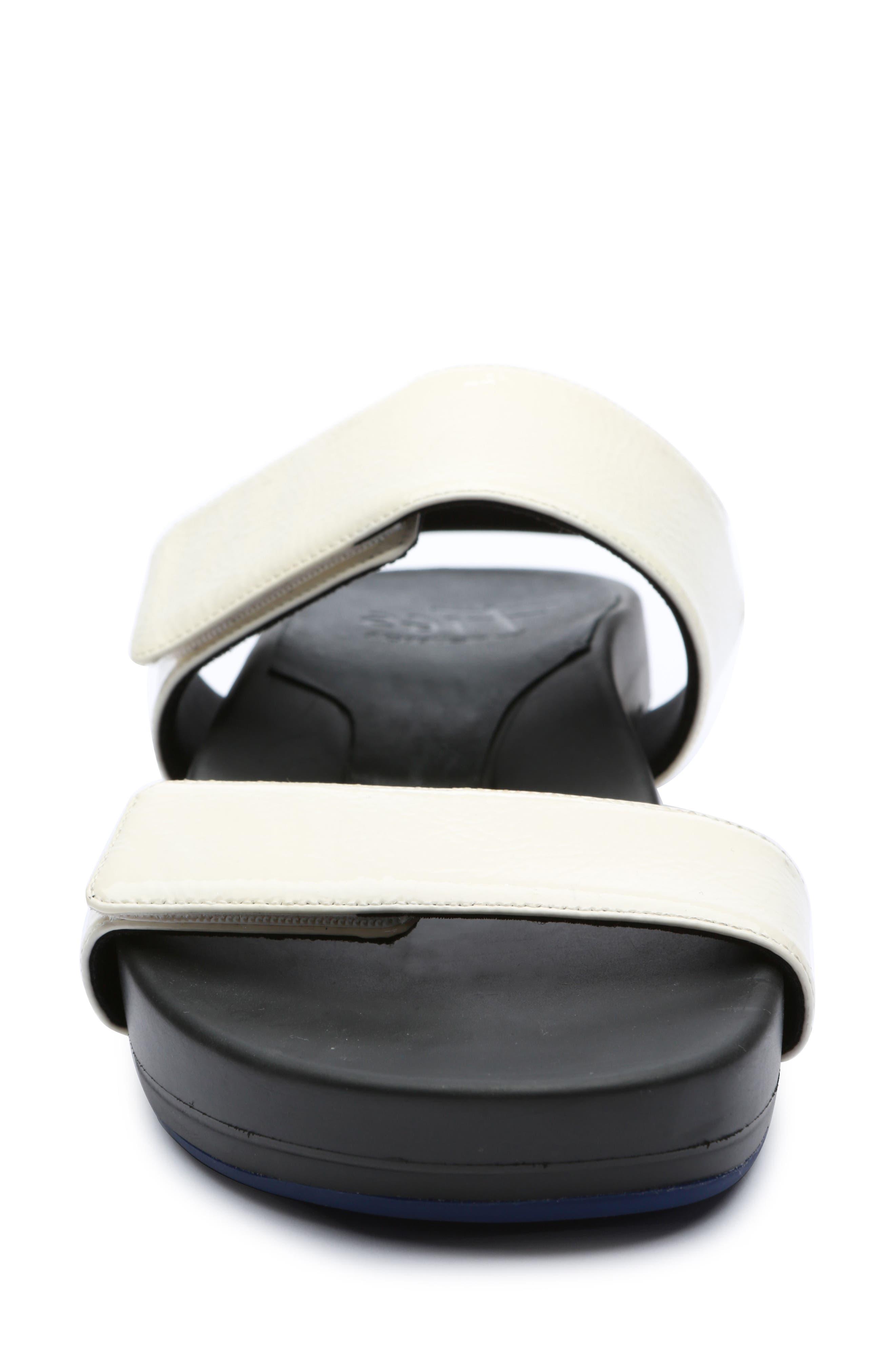 Figulous Sandal,                             Alternate thumbnail 2, color,                             White Crinkle Patent Leather