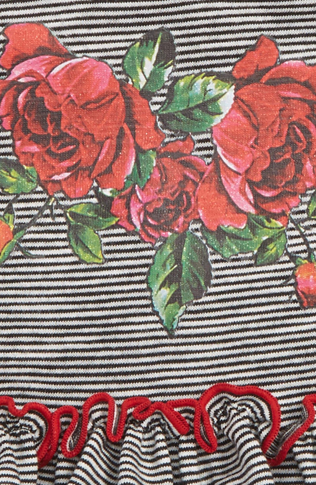 Dress & Capri Leggings Set,                             Alternate thumbnail 2, color,                             Black/ White