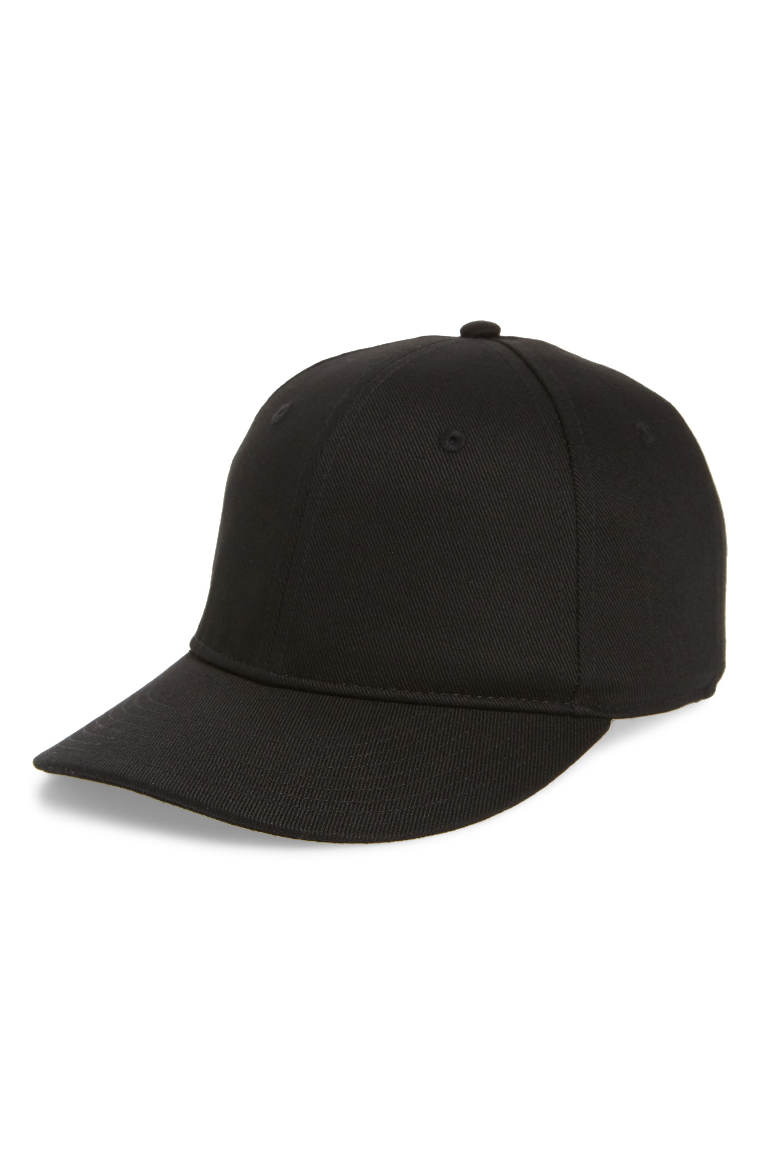 Dylan Ball Cap,                             Main thumbnail 1, color,                             Black Twill