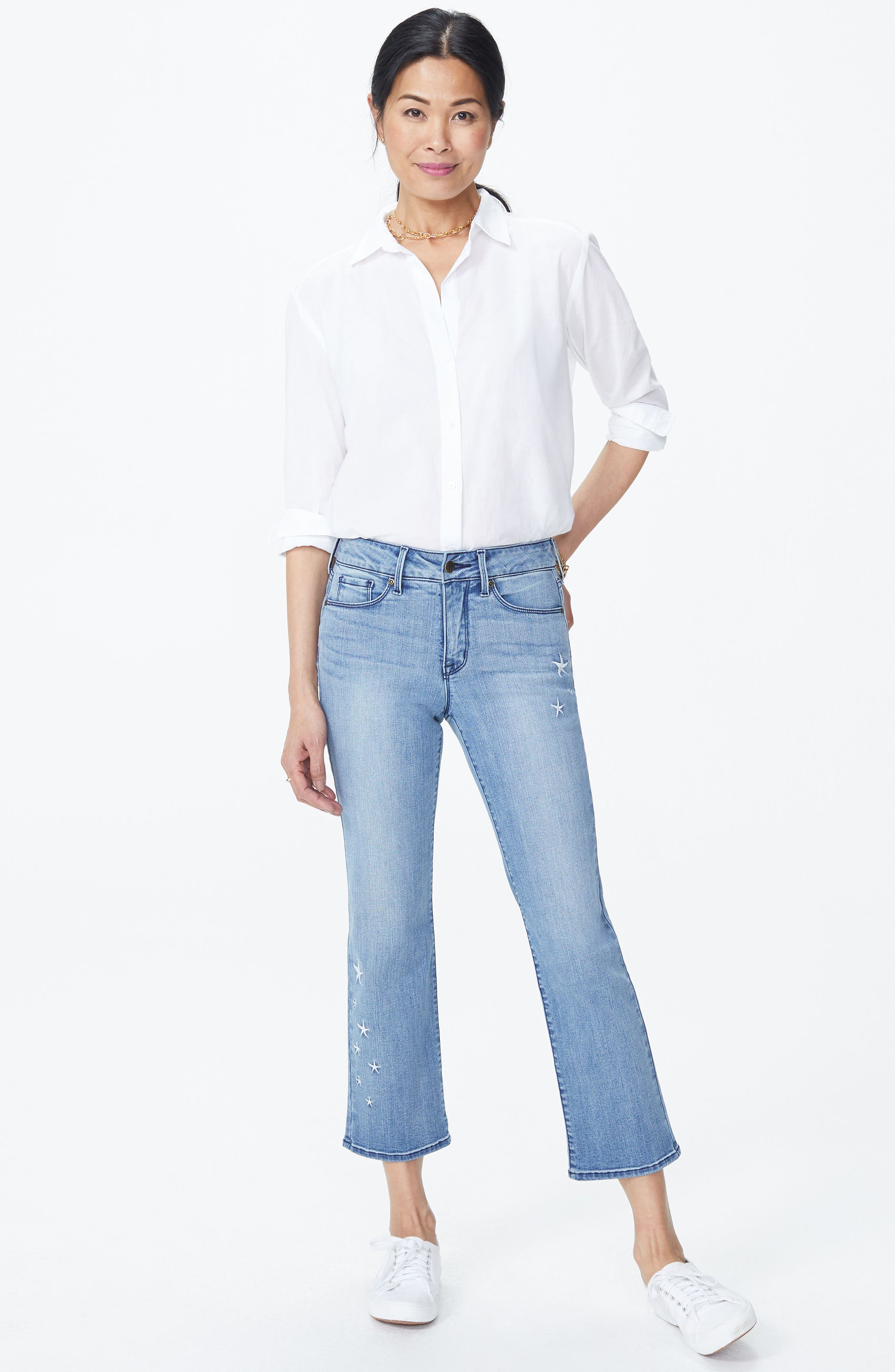 Marilyn Straight Leg Star Ankle Jeans,                             Alternate thumbnail 4, color,                             Point Dume