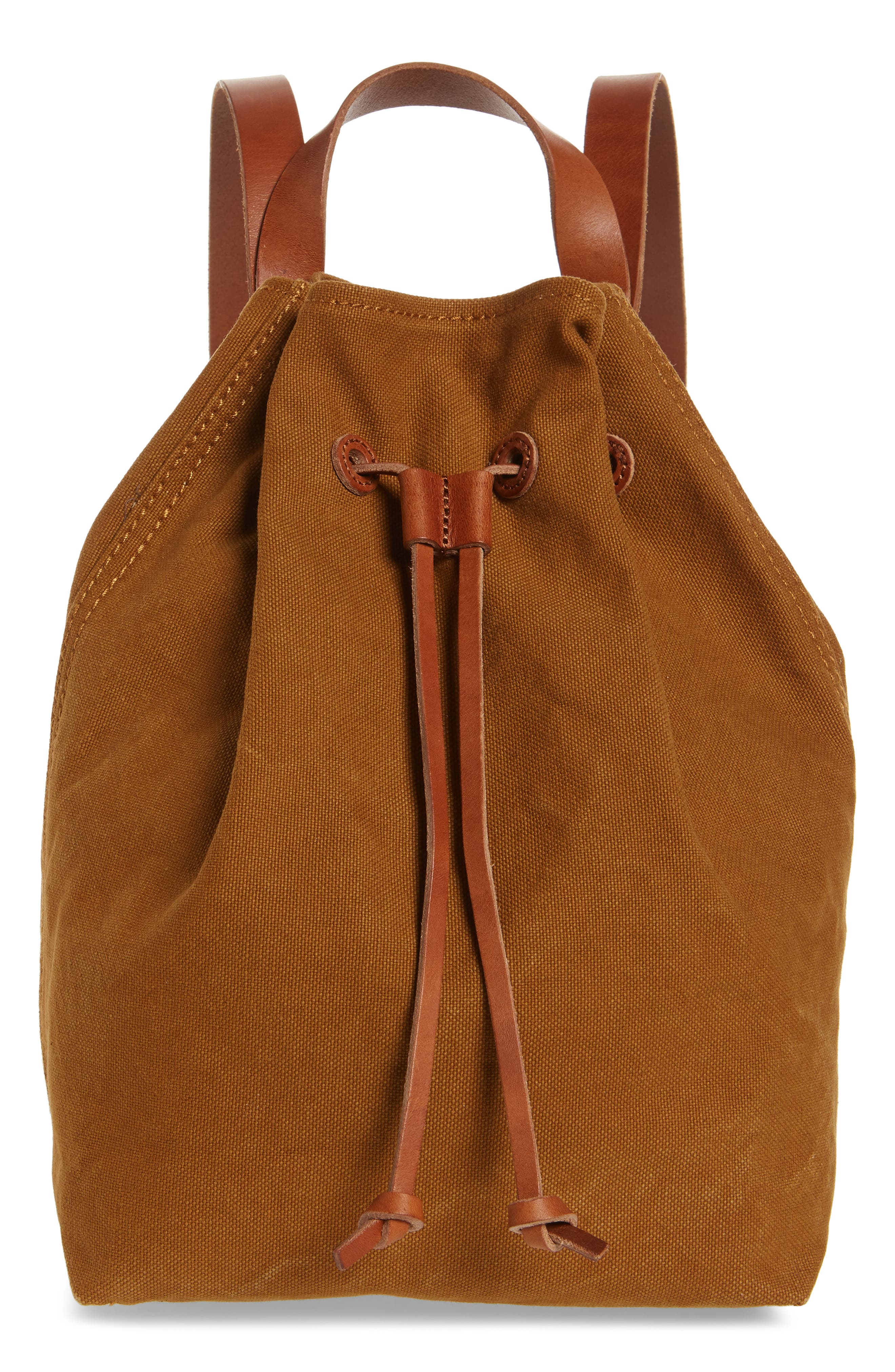 SOMERSET CANVAS BACKPACK - BROWN