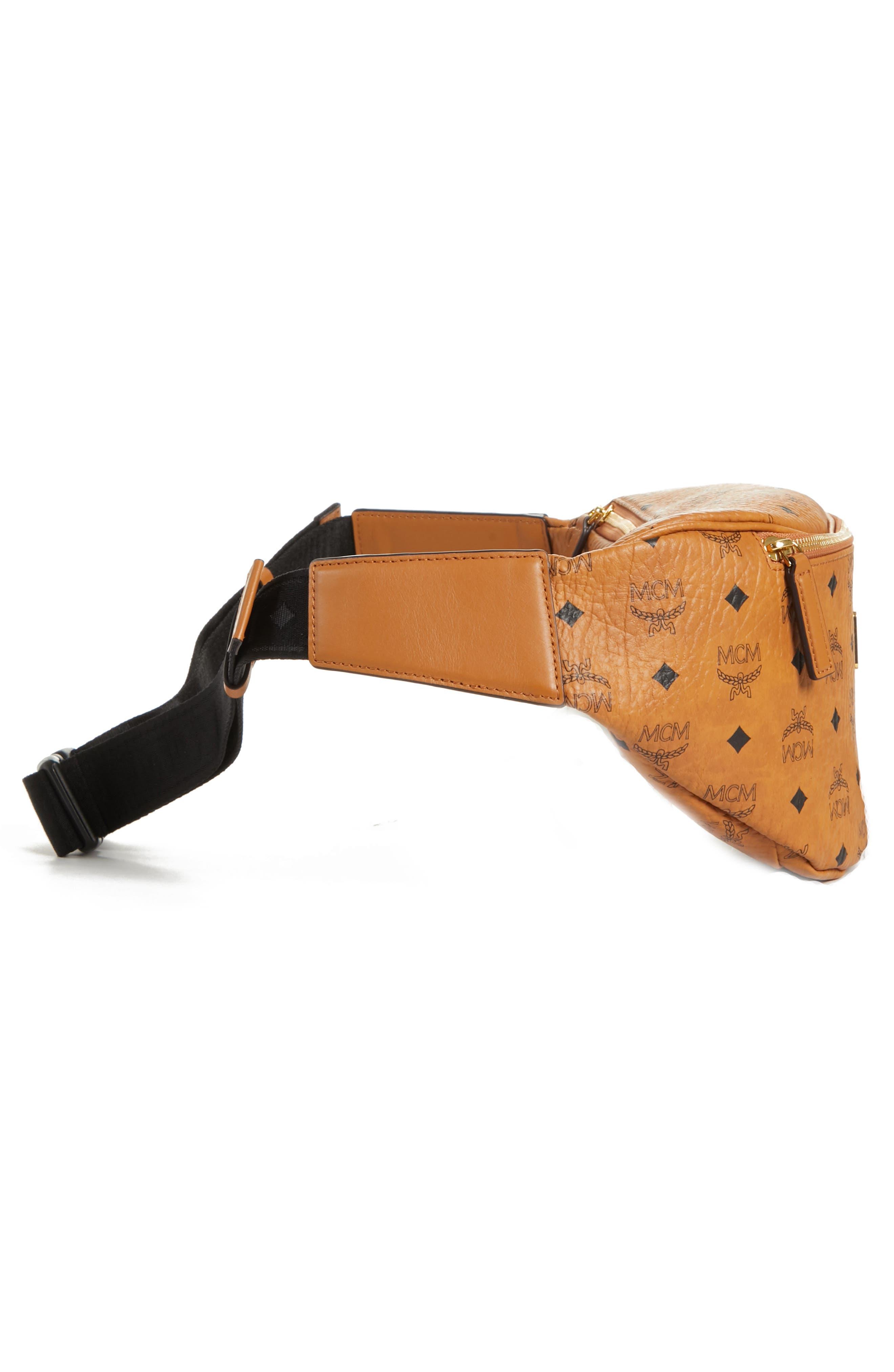 Medium Stark Belt Bag,                             Alternate thumbnail 4, color,                             Cognac Co