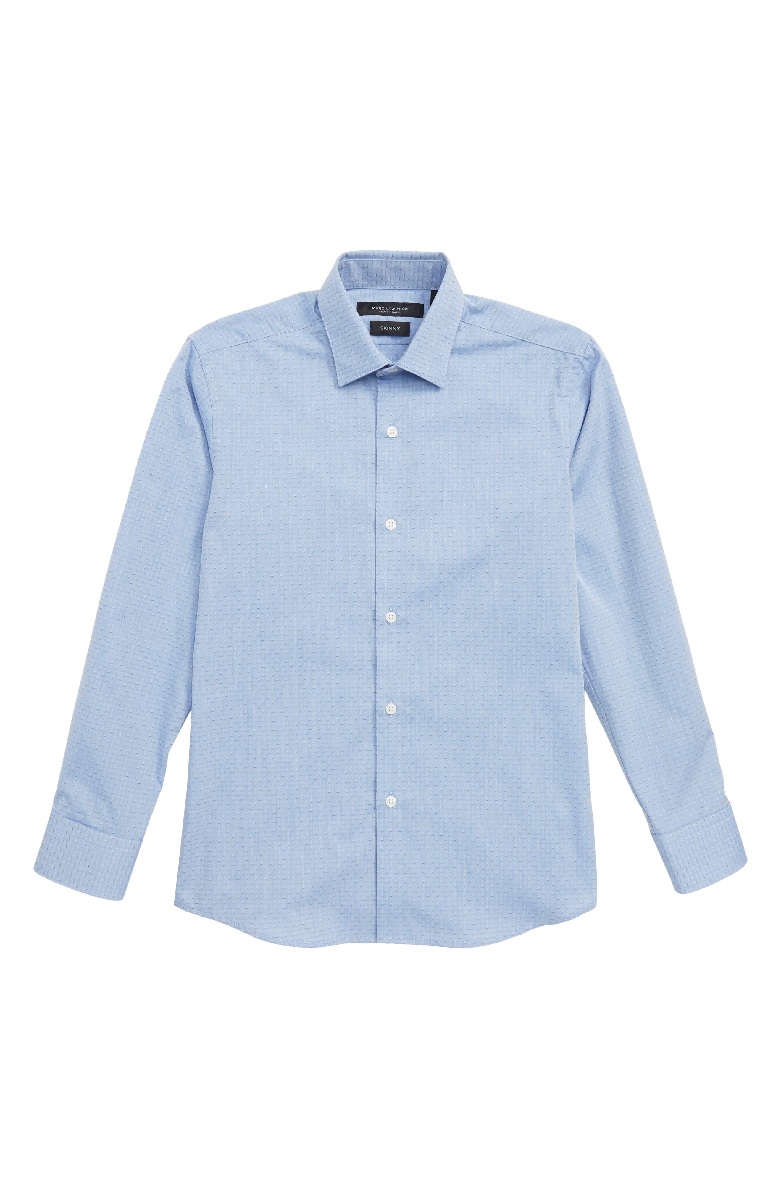 Diamond Print Dress Shirt,                             Main thumbnail 1, color,                             Blue