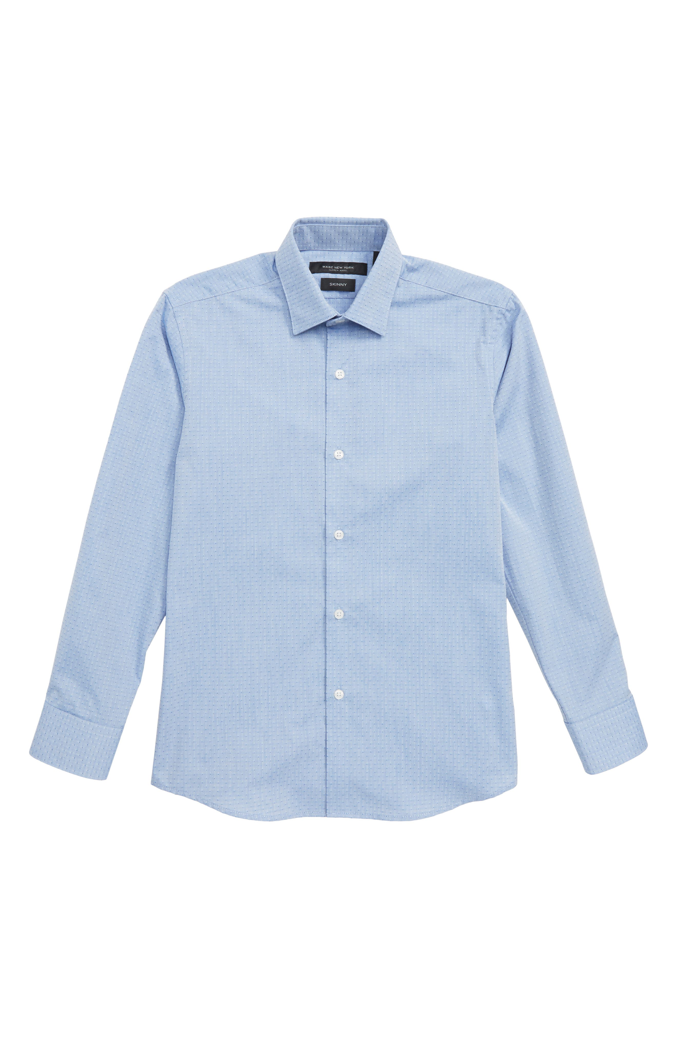 Diamond Print Dress Shirt,                         Main,                         color, Blue