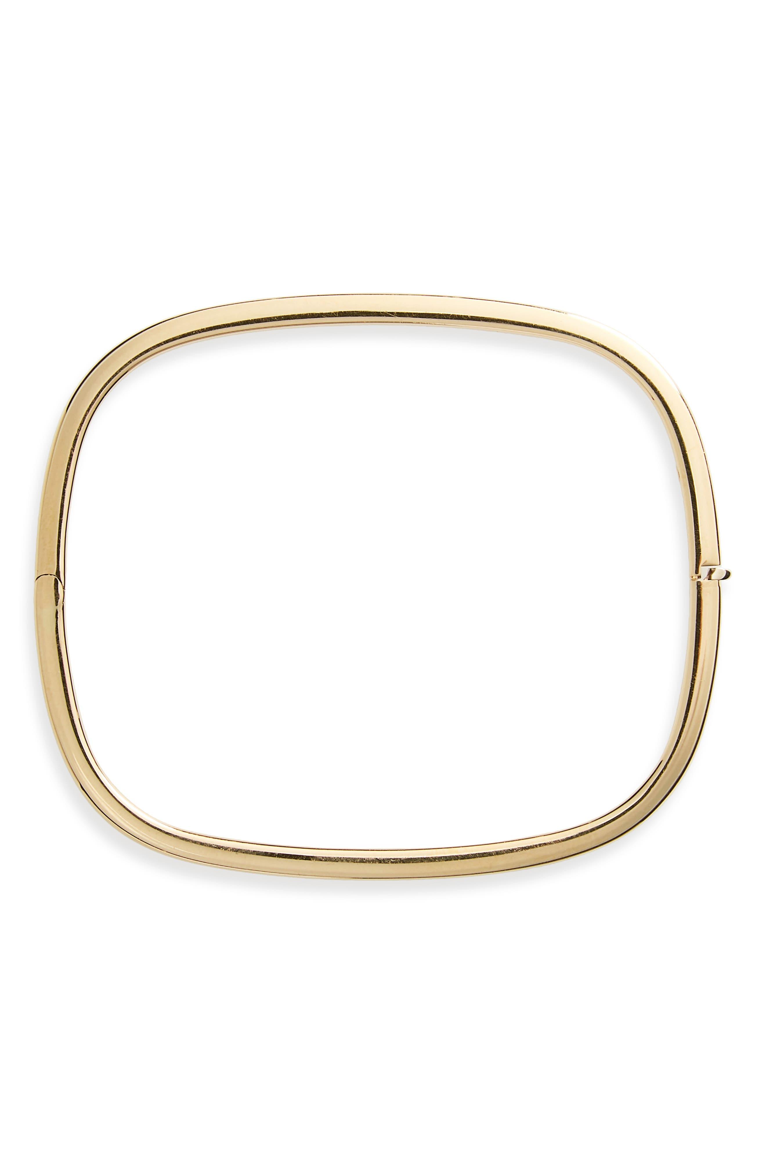 Soft Square Bangle Bracelet,                         Main,                         color, 18Kyg