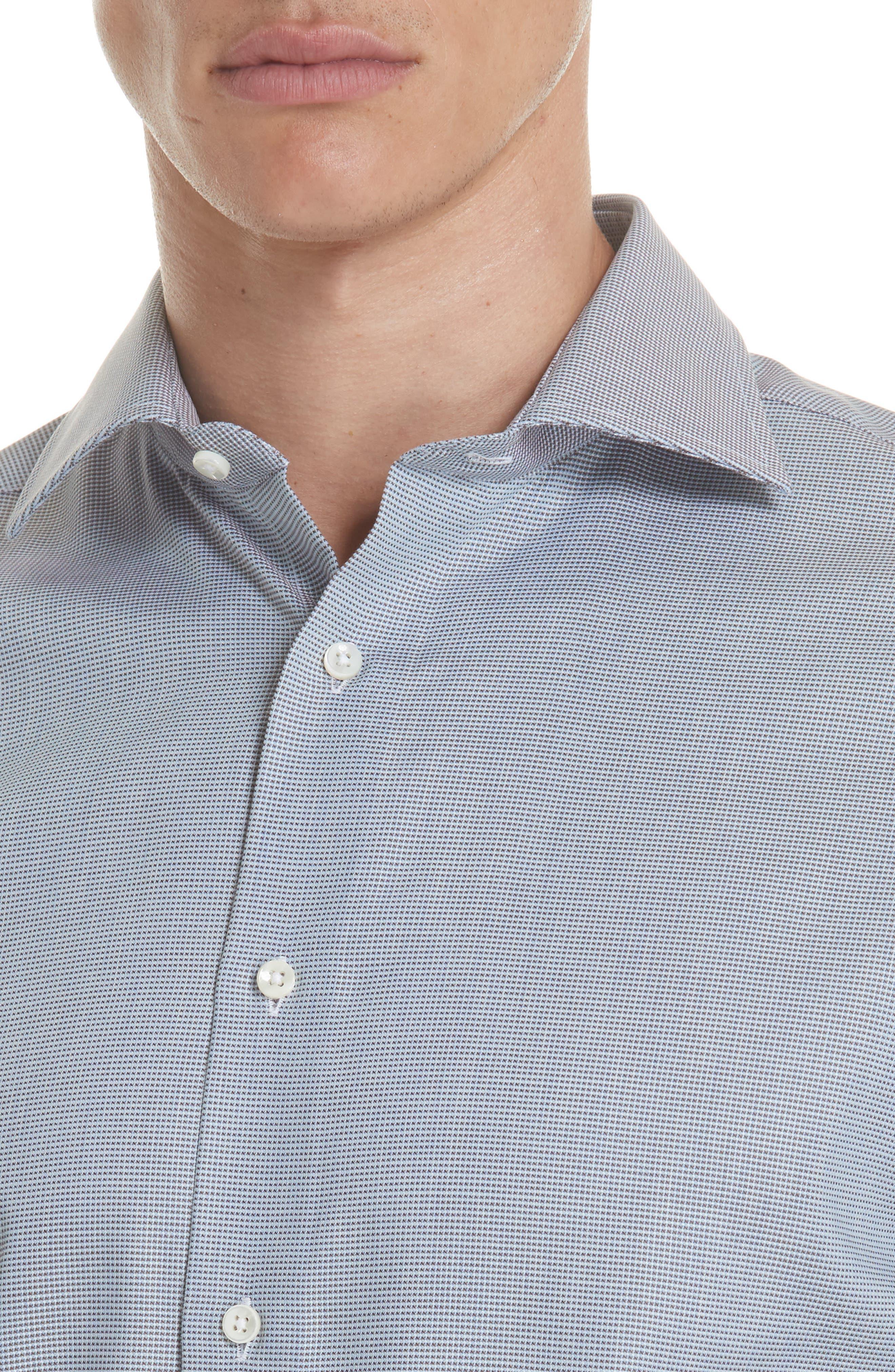 Regular Fit Solid Dress Shirt,                             Alternate thumbnail 2, color,                             Brown