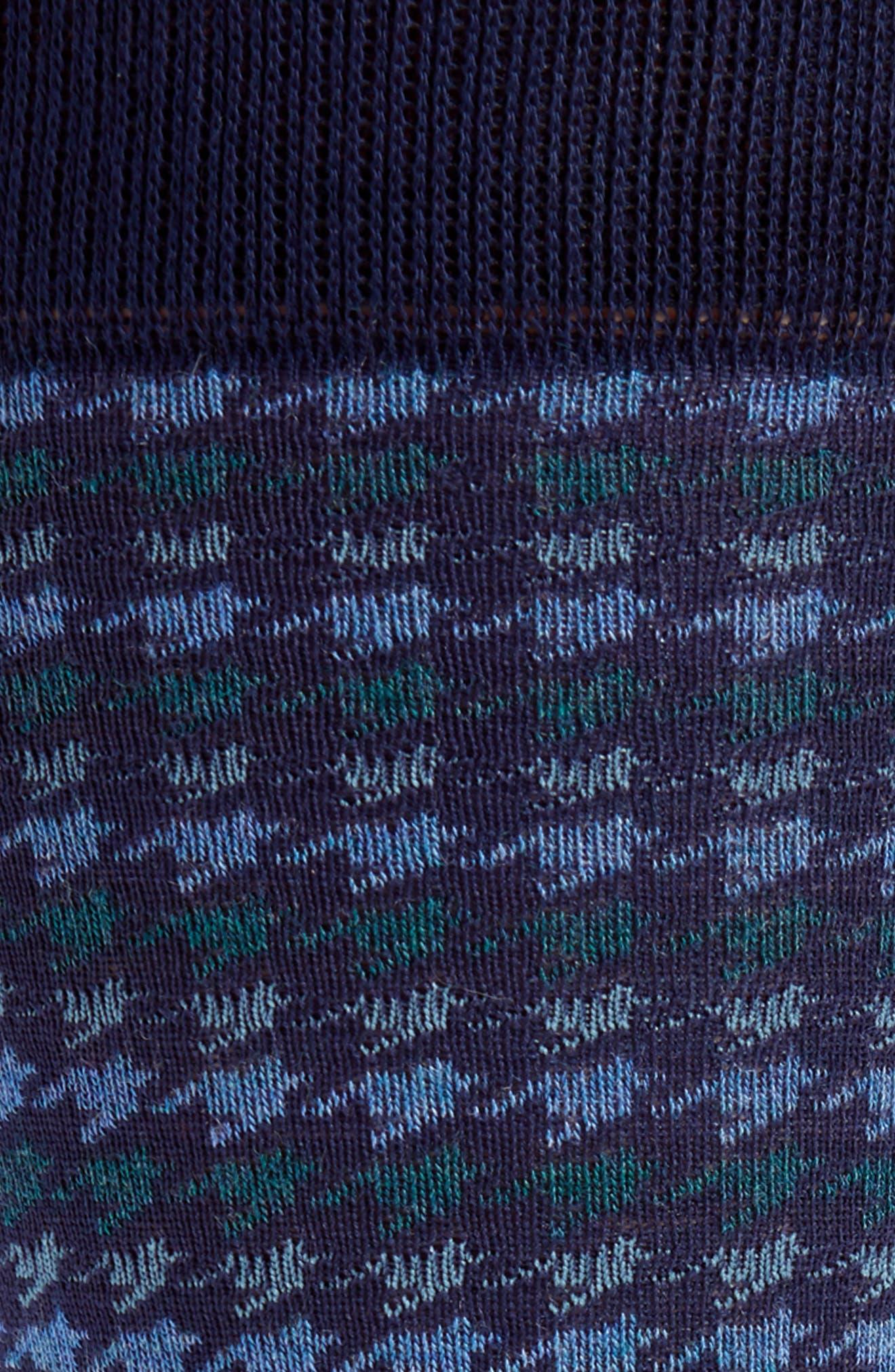 Houndstooth Stripe Socks,                             Alternate thumbnail 2, color,                             Navy/ Blue