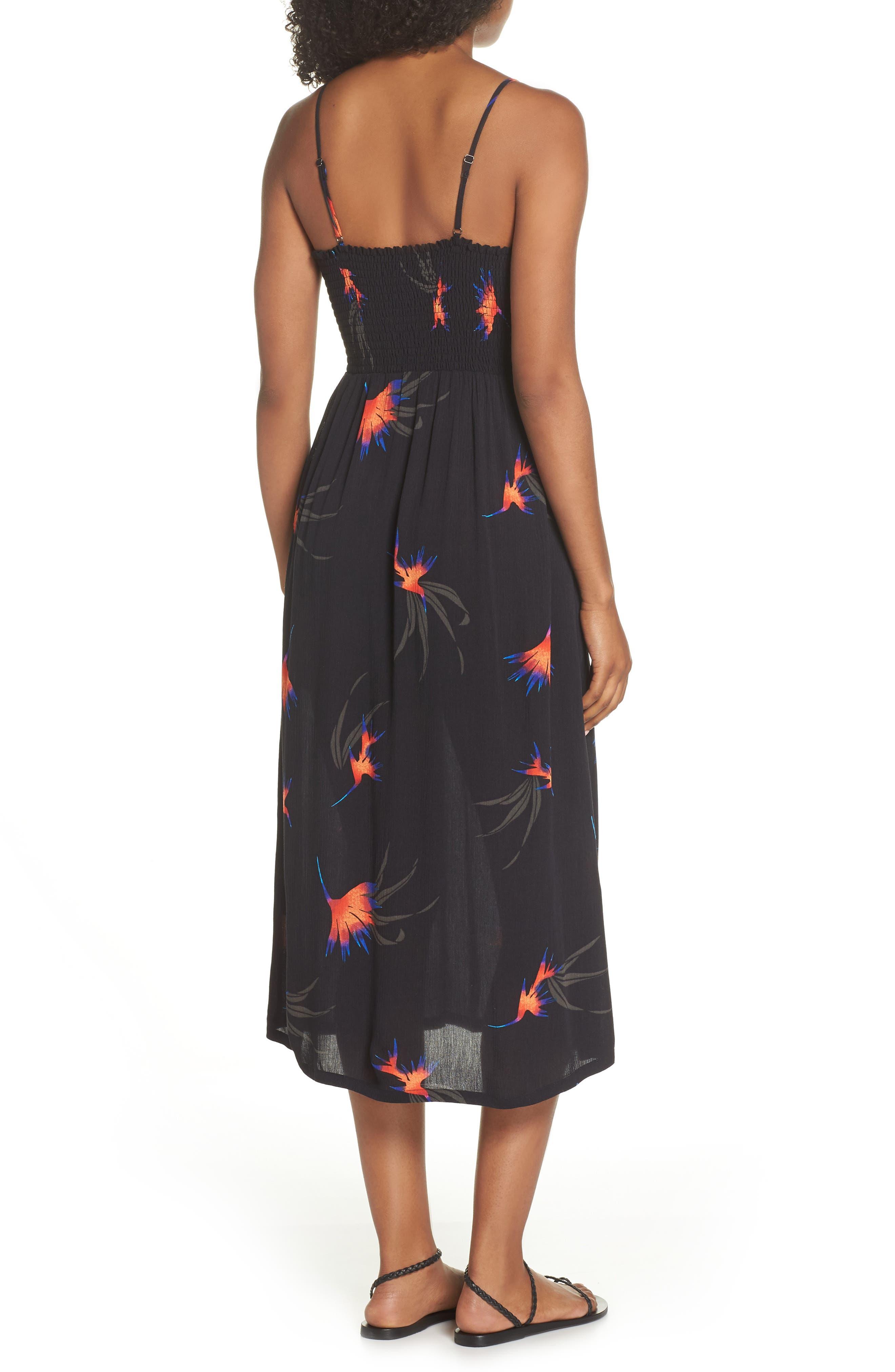 Sydney Midi Dress,                             Alternate thumbnail 2, color,                             Black Paradise City Print