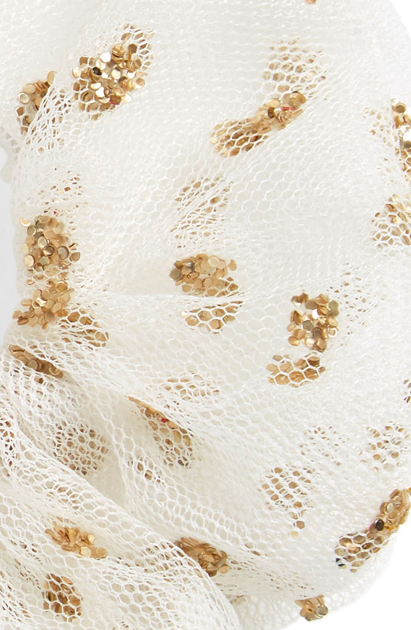 After Party Scrunchie,                             Alternate thumbnail 3, color,                             White/ Gold