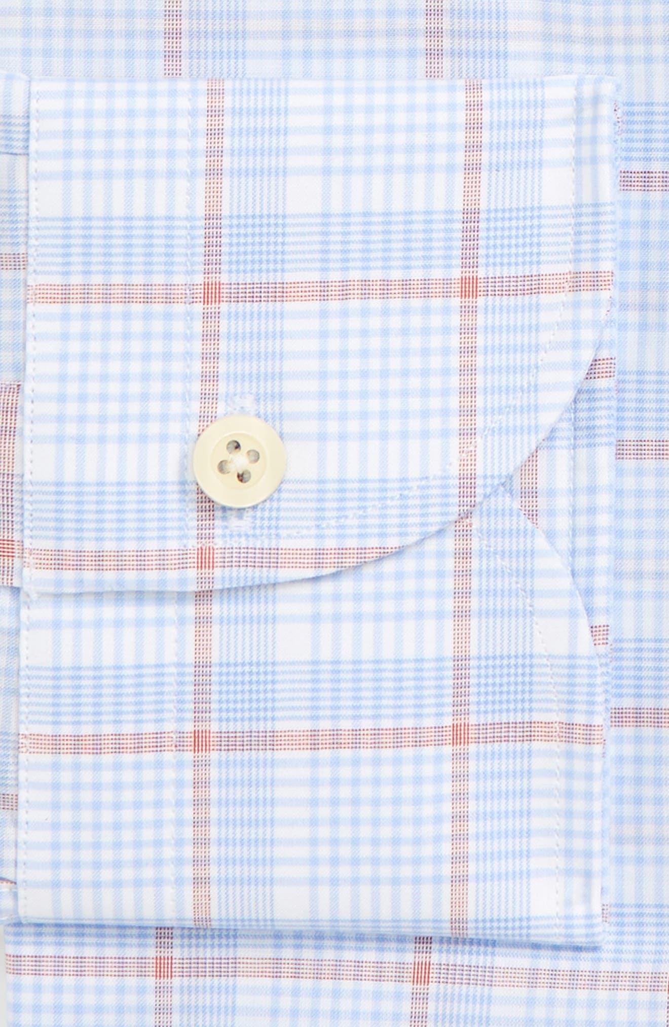 Conwell Slim Fit Plaid Dress Shirt,                             Alternate thumbnail 5, color,                             Blue