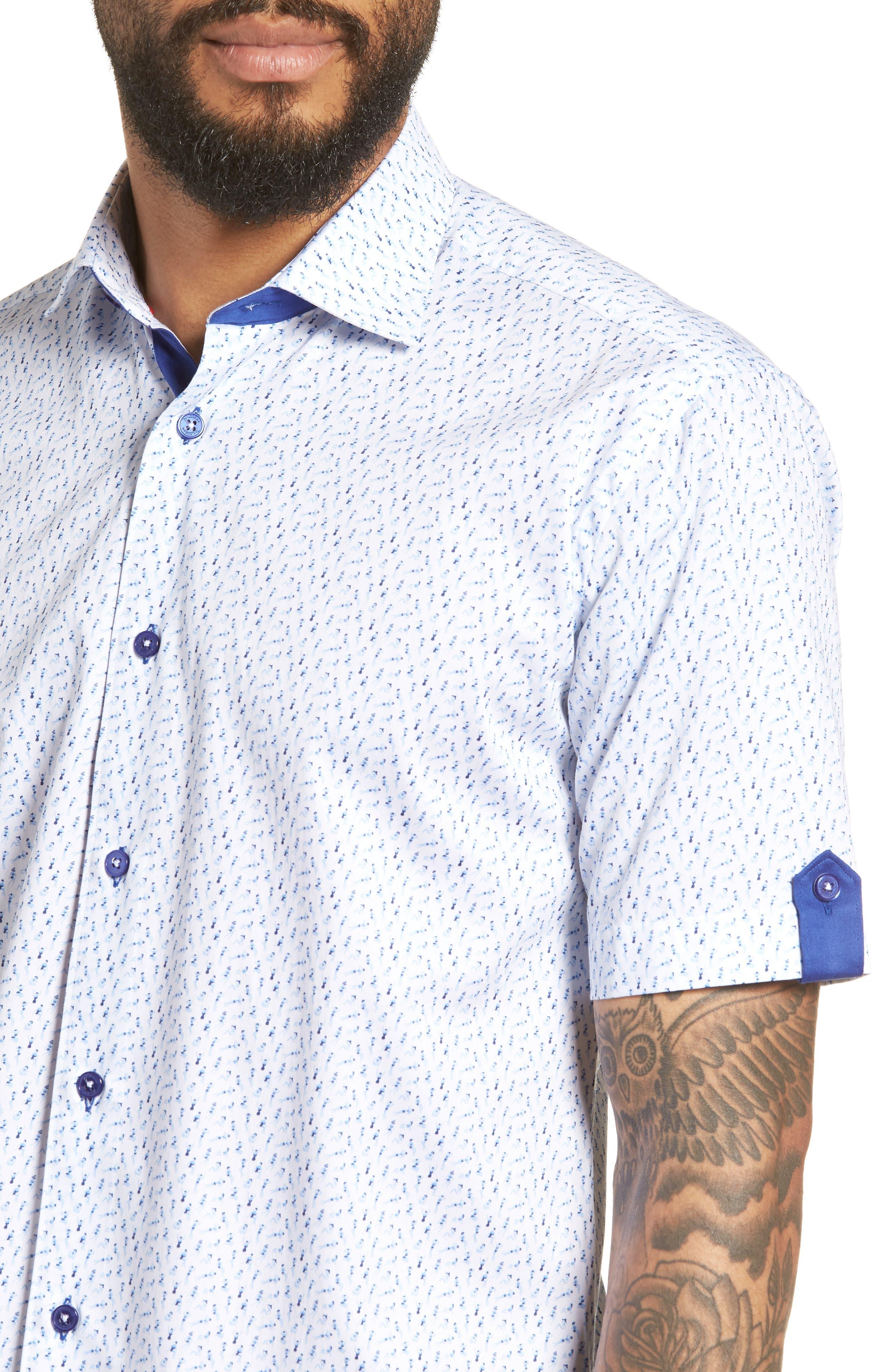 Fresh Swimsuit Print Sport Shirt,                             Alternate thumbnail 2, color,                             Blue