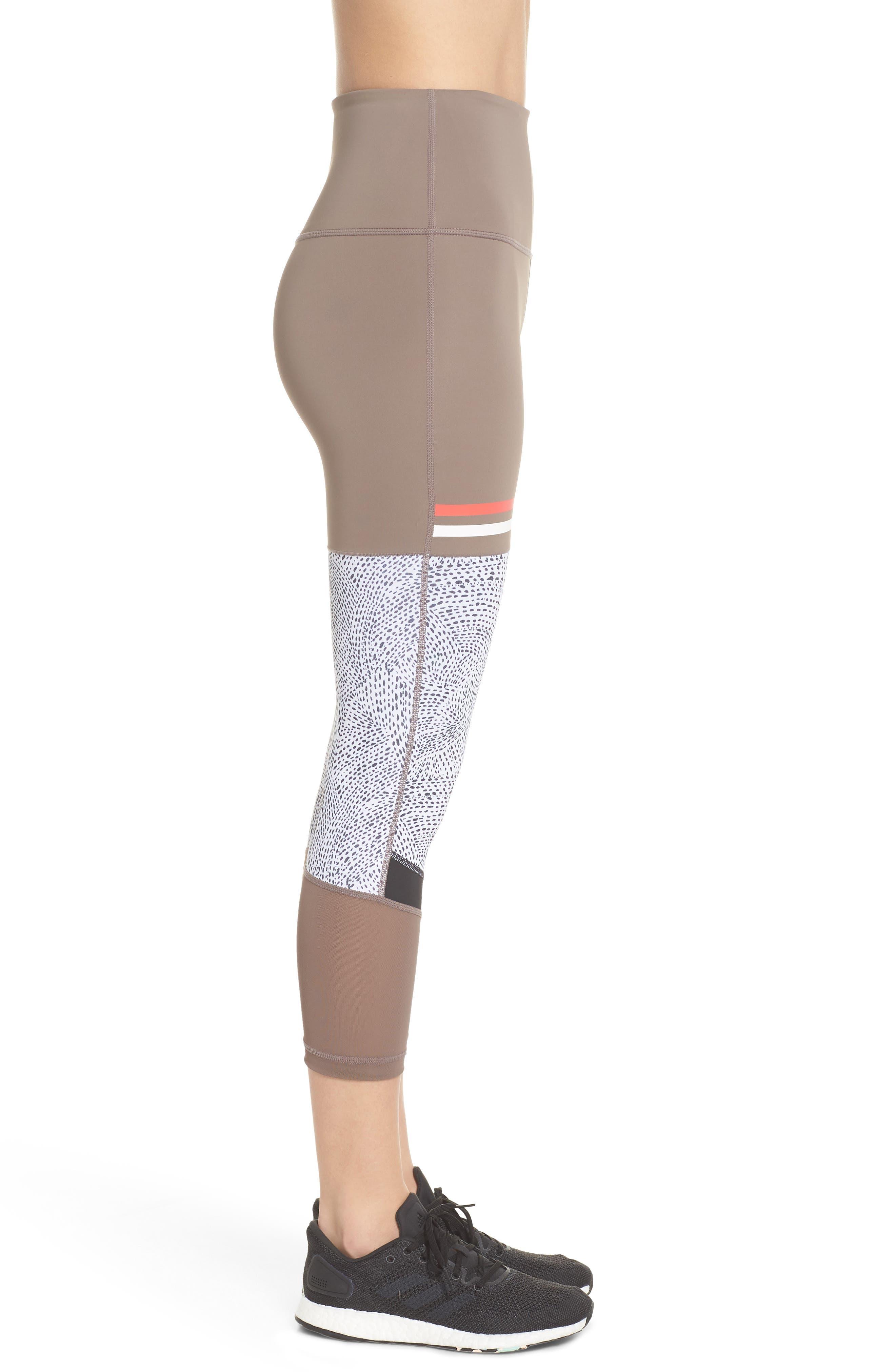 Senso Vision High Waist Crop Leggings,                             Alternate thumbnail 4, color,                             Tan Dusk