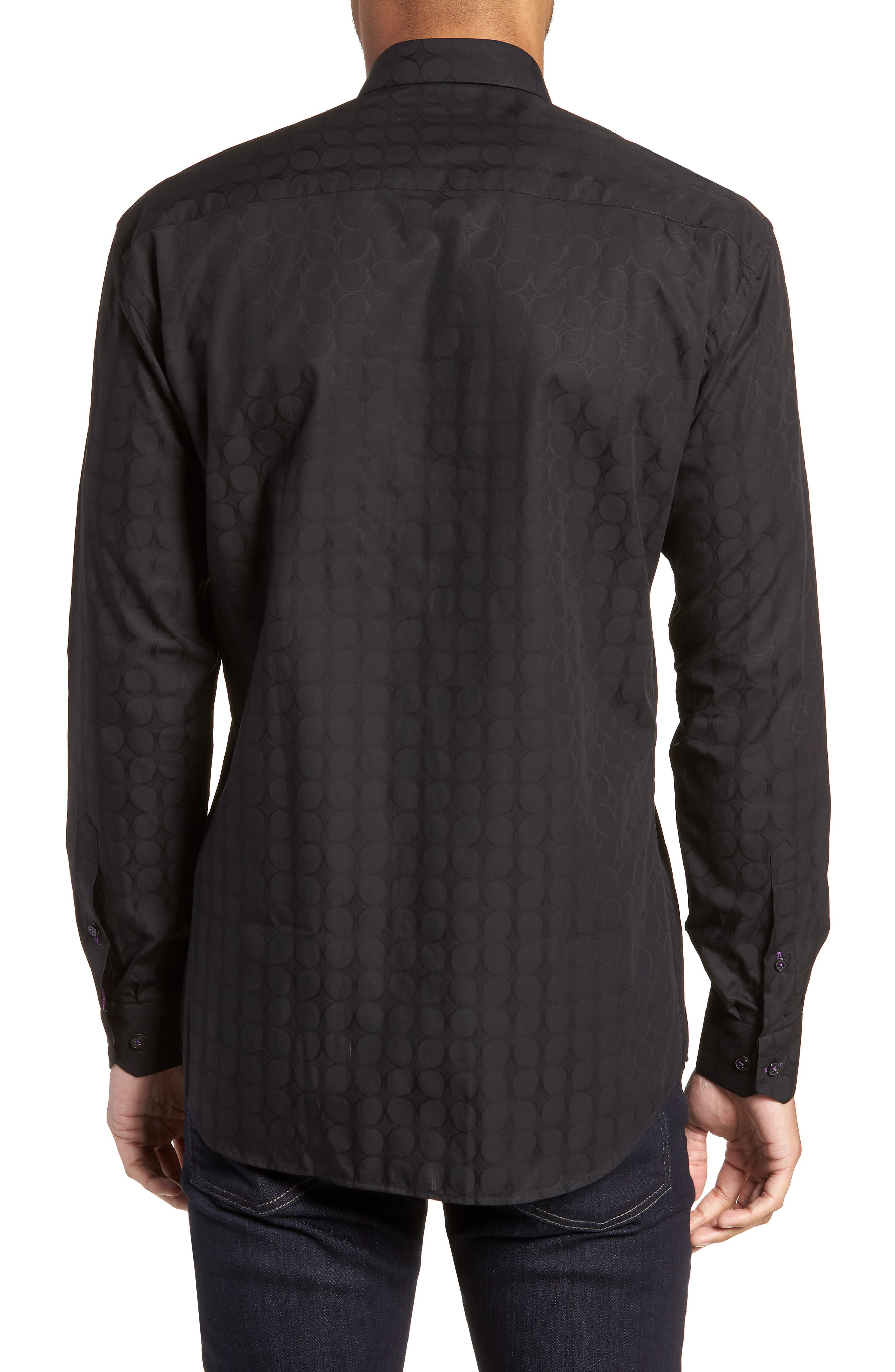 Luxor Bond Sport Shirt,                             Alternate thumbnail 3, color,                             Black